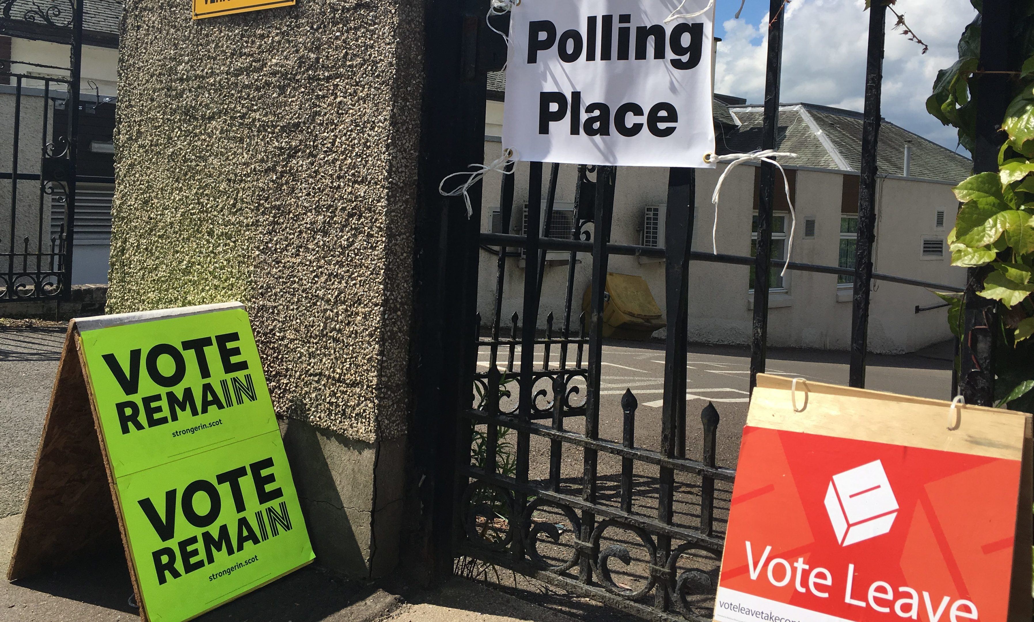 Polling day at the Live Active Rodney sports centre in Perth.