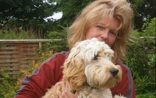 Sue Forrester and cockerpoo Ralph