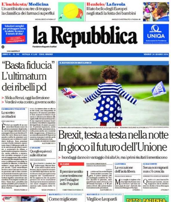 Italian paper La Republica