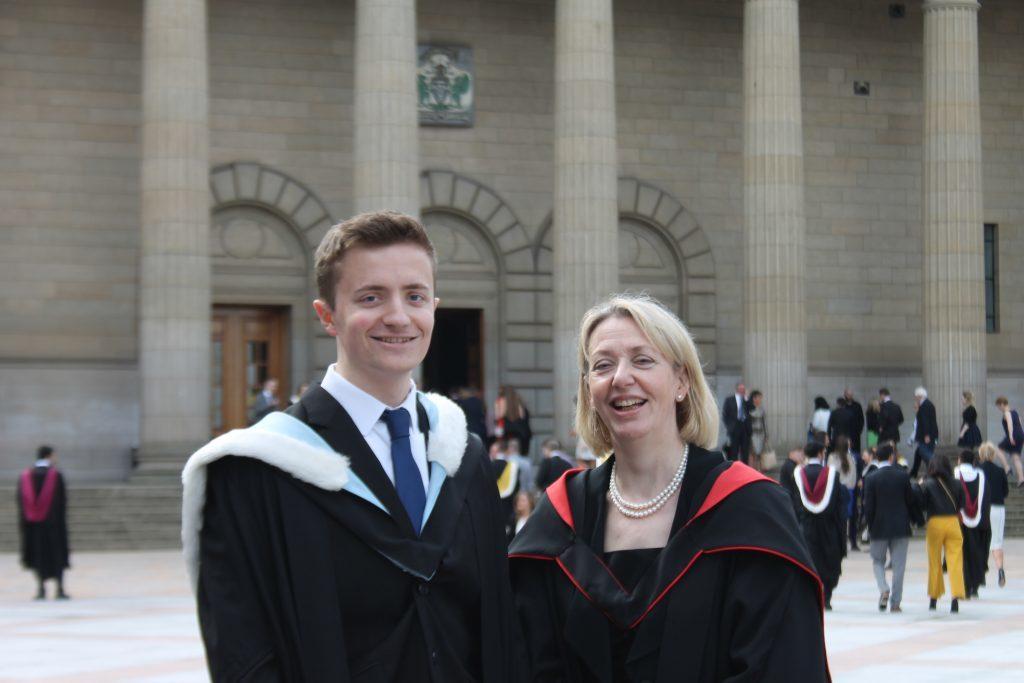 Jamie Scott and mum Mairi
