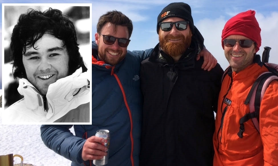 Christopher Dickson, Richie Duncan and James Sawyer scaled Ben Nevis in memory of Jonathan Dickson (inset).