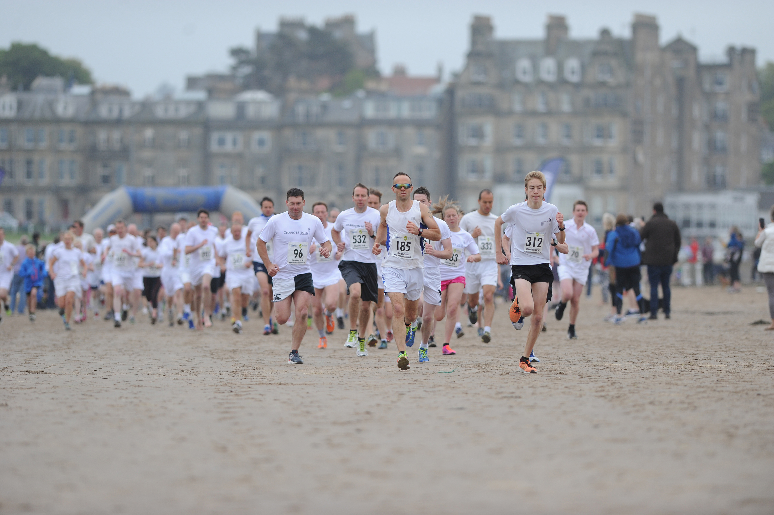The annual Chariots of Fire charity running event on the West Sands in St Andrews.