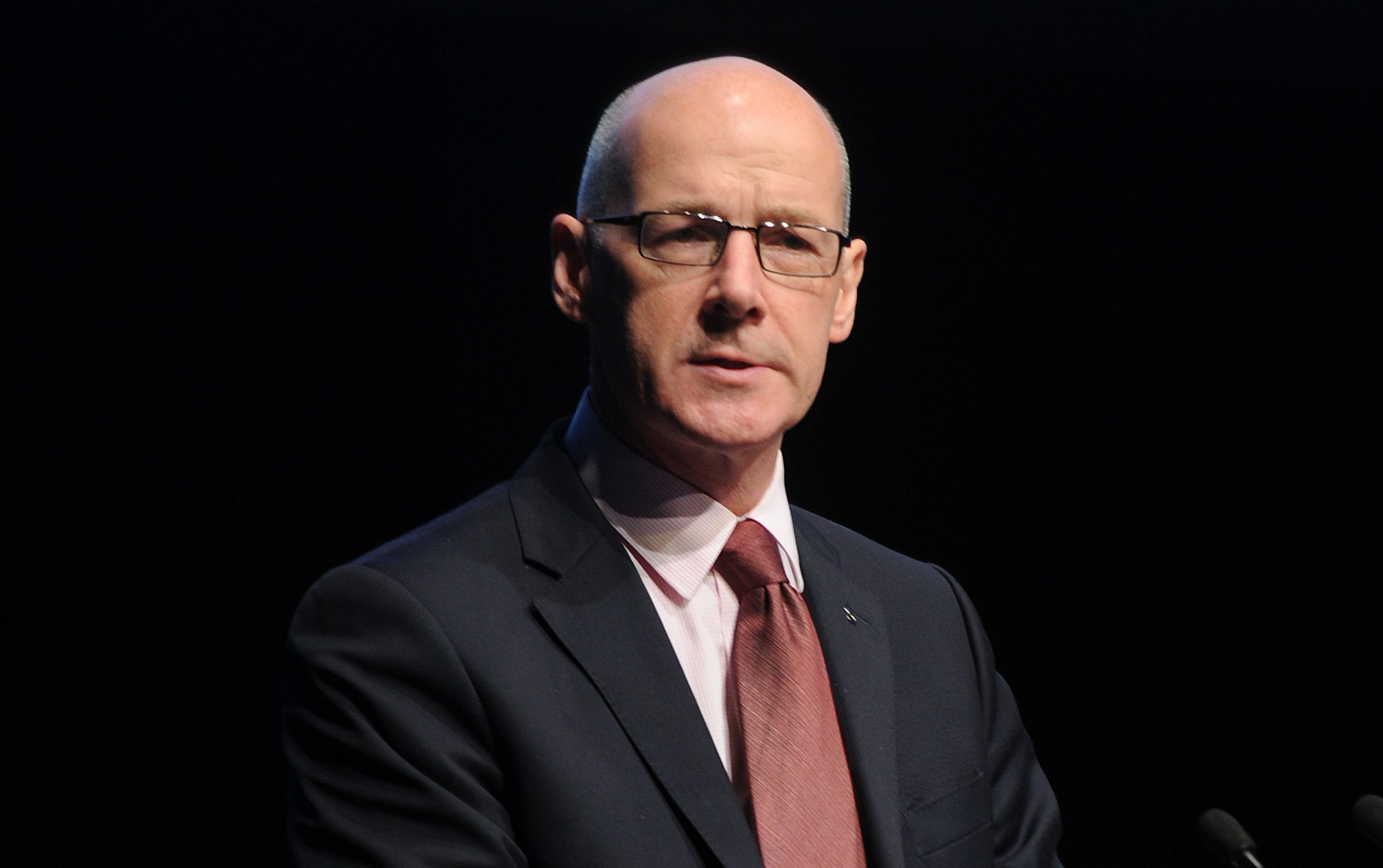 John Swinney faced a tough time as he addressed EIS delegates at the Caird Hall.
