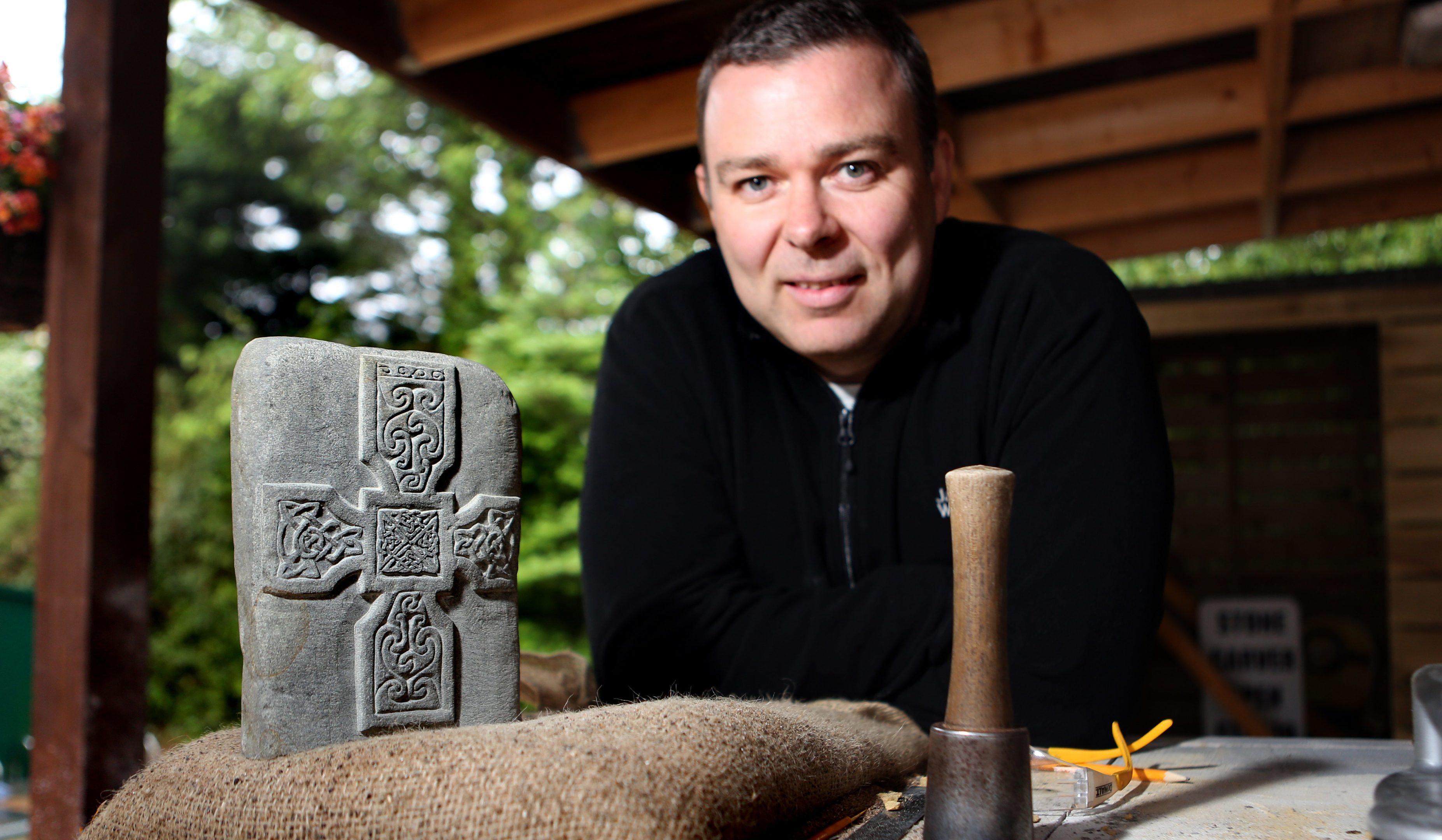 David McGovern at his workshop in Monikie.