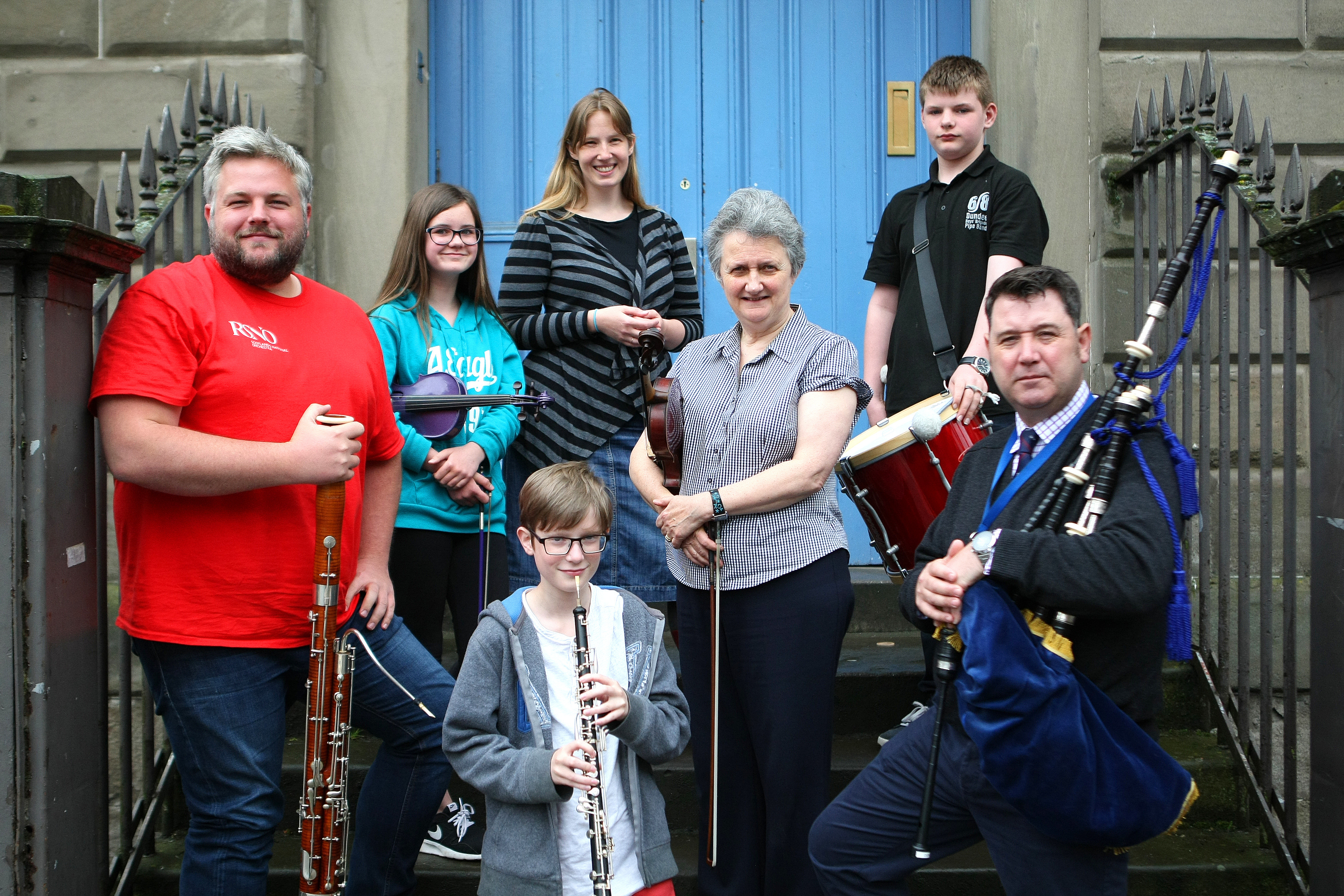 Pupils from Harris Academy and Menzieshill High performed together.