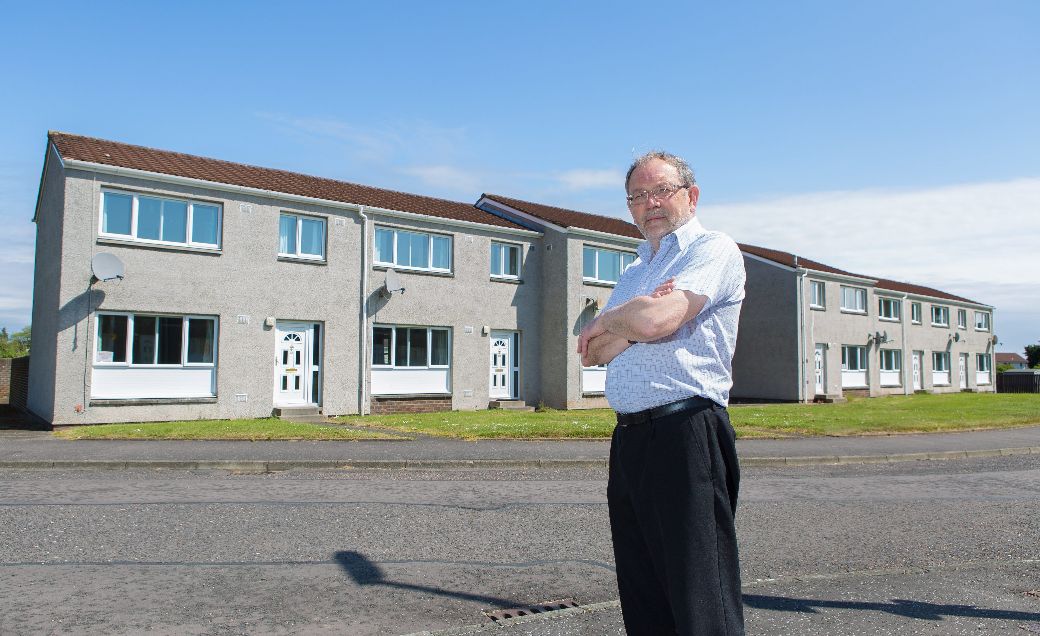 Cllr Tim Brett is willing the council to look into the possibility of using the empty MOD properties in Leuchars for social housing and those desperate for their first house.