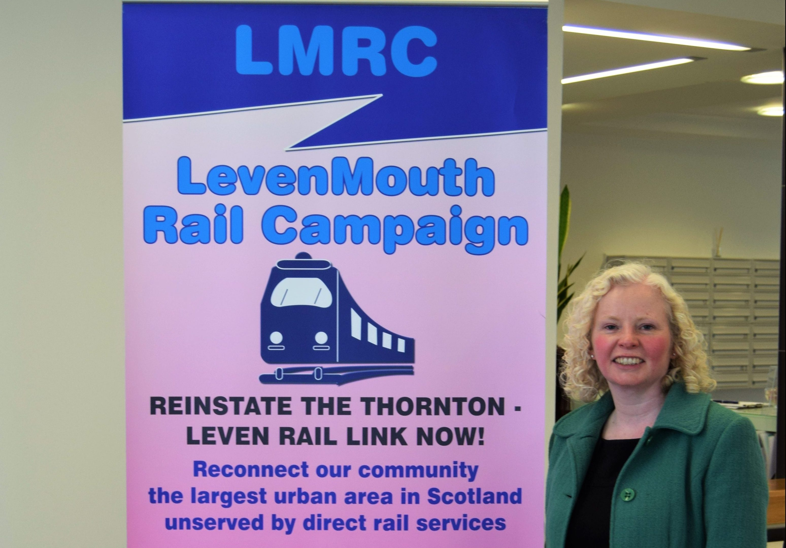 Claire Baker MSP supports reinstating the Levenmouth rail link