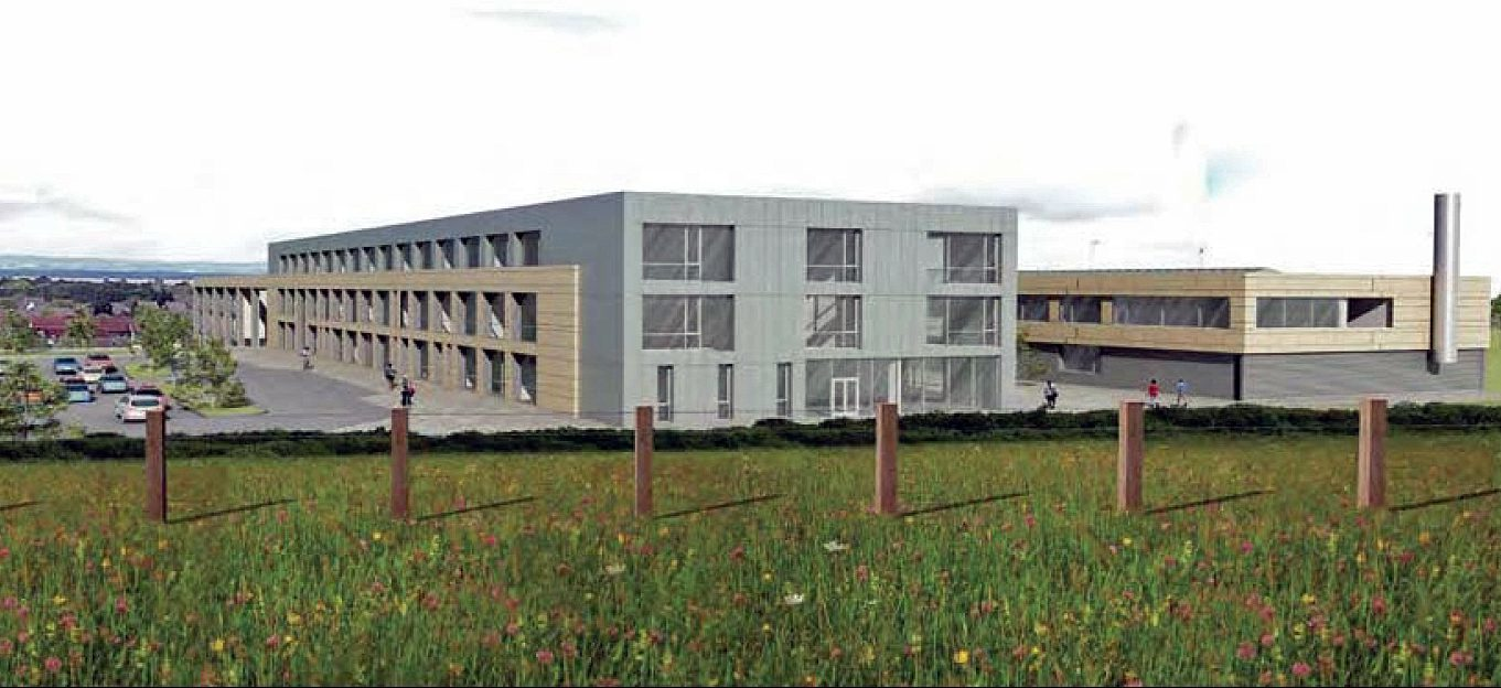 Artist's impression of the new Madras College at Pipeland