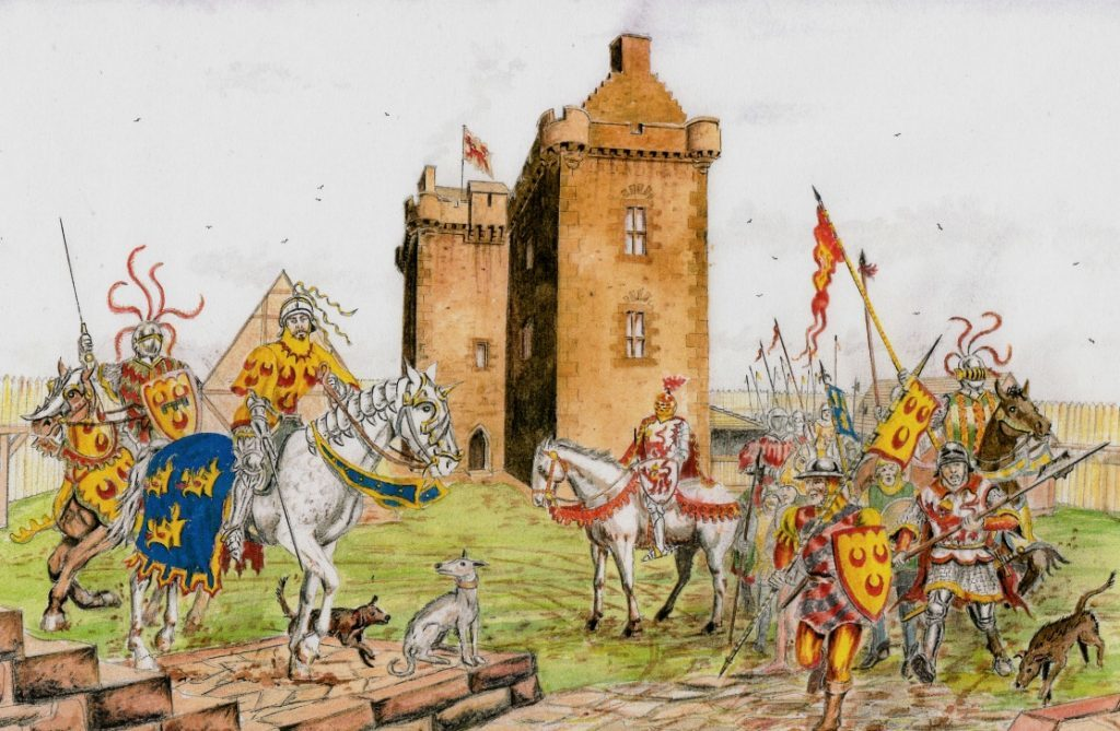 Ogilvy, Seton and Gordon forces mass before the Battle of Arbroath in 1445