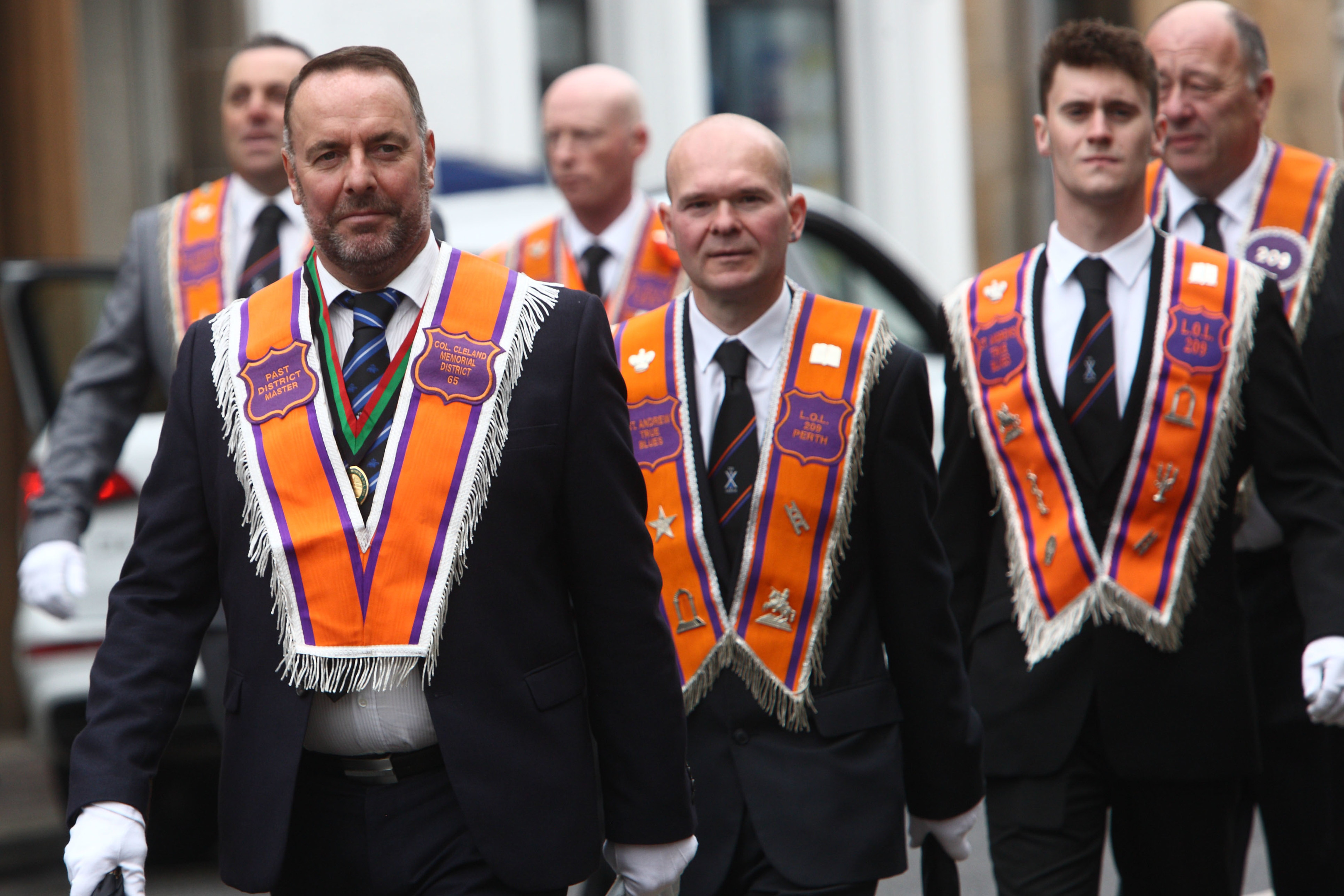 The Orange Order marched through Perth.