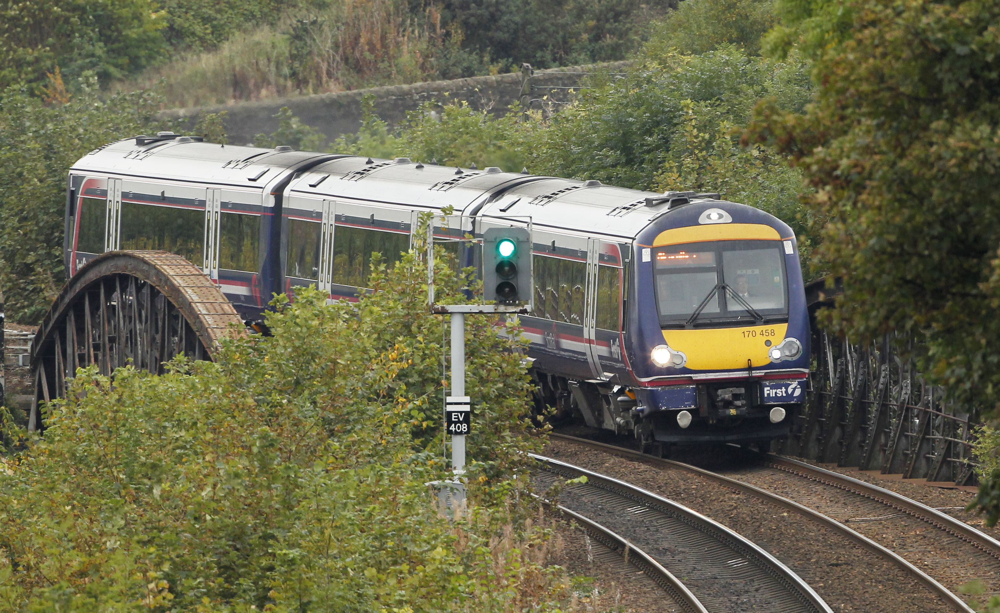 Overhanging branches have caused some delays