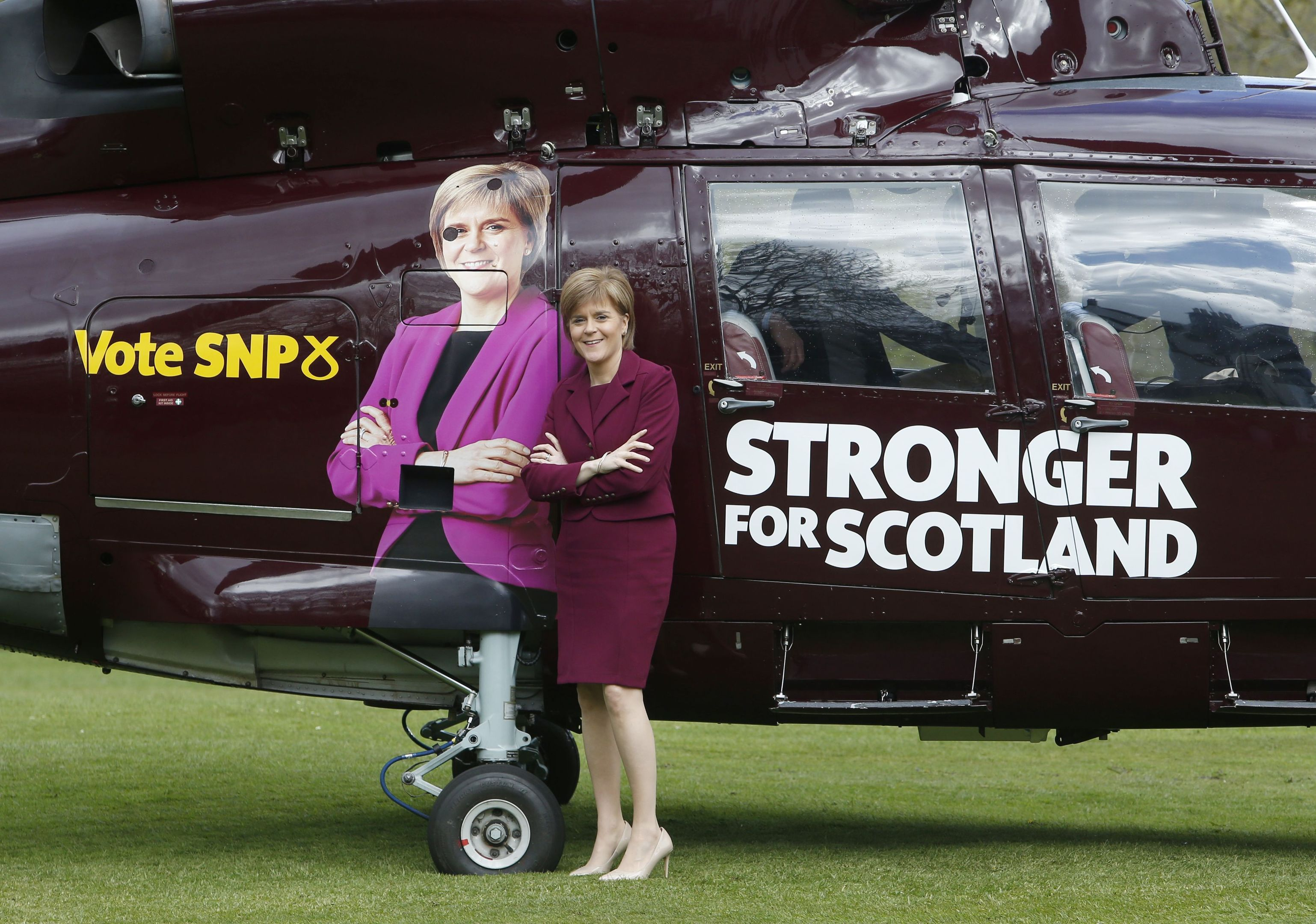 Mr Walker has raised concerns about the cost of Nicola Sturgeon using a helicopter to visit target constituencies.