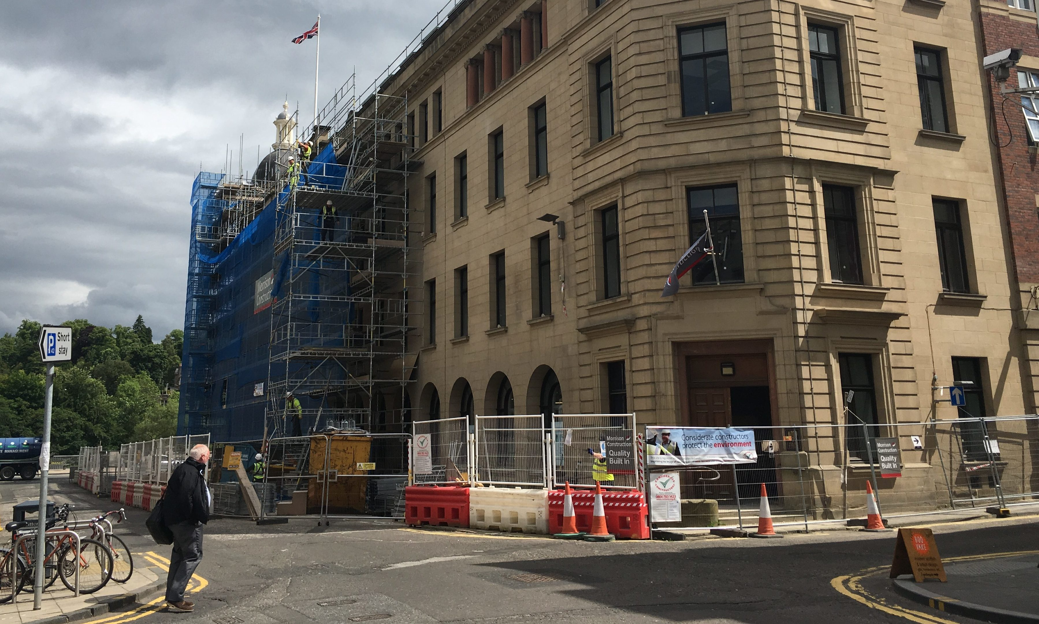 Work is nearly finished on Perth's High Street HQ.