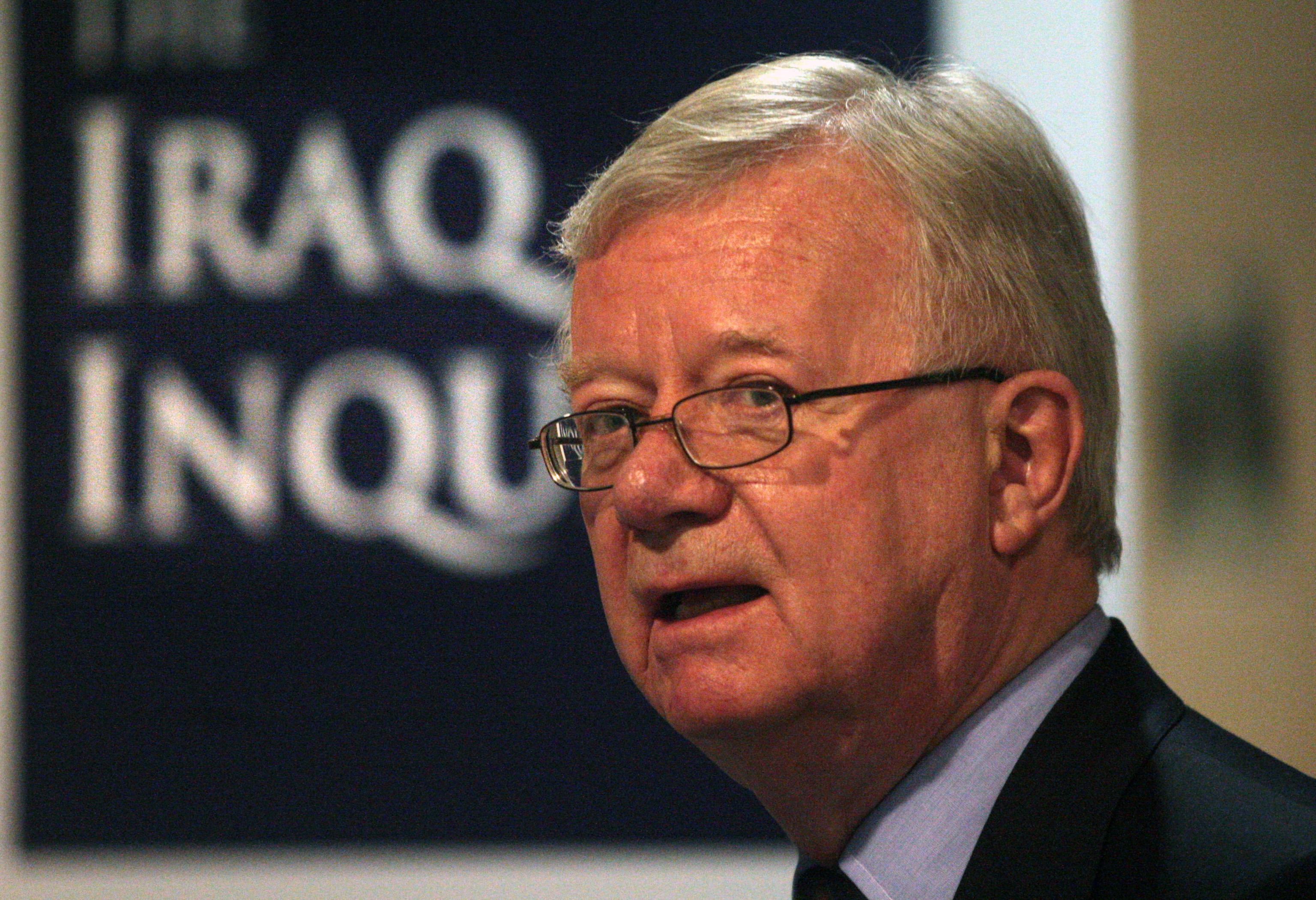 Chairman of the Iraq Inquiry Sir John Chilcot.