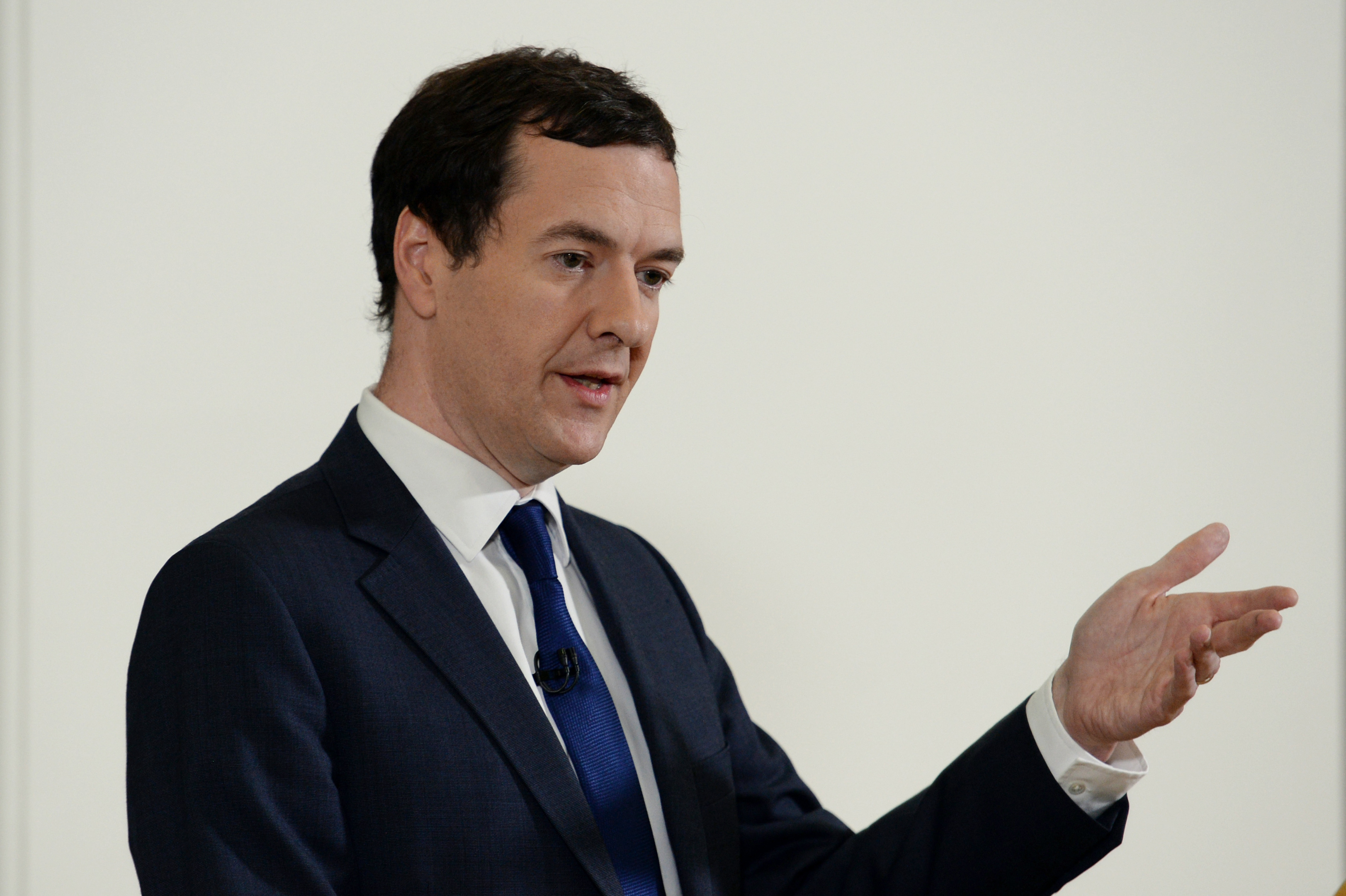 Chancellor George Osborne holds a press conference at The Treasury, London, where he moved to try to calm market turmoil triggered by the pro-Brexit vote.