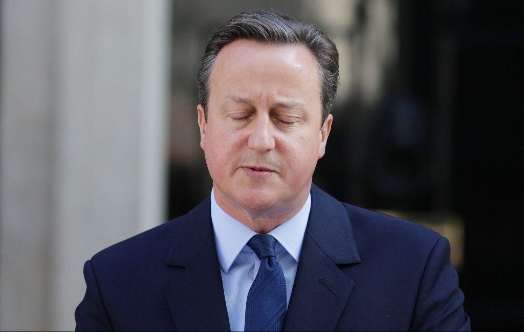 A song on his lips — David Cameron.