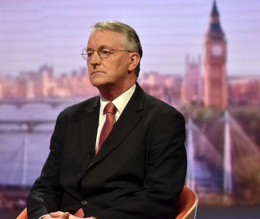 For use in UK, Ireland or Benelux countries only EDITORIAL USE ONLY Handout photo issued by the BBC of Hilary Benn on the BBC One current affairs programme, The Andrew Marr Show. PRESS ASSOCIATION Photo. Picture date: Sunday June 26, 2016. Jeremy Corbyn is facing an open revolt after sacking Hilary Benn from the shadow cabinet. See PA story POLITICS EU. Photo credit should read: Jeff Overs/BBC/PA Wire NOTE TO EDITORS: This handout photo may only be used in for editorial reporting purposes for the contemporaneous illustration of events, things or the people in the image or facts mentioned in the caption. Reuse of the picture may require further permission from the copyright holder.
