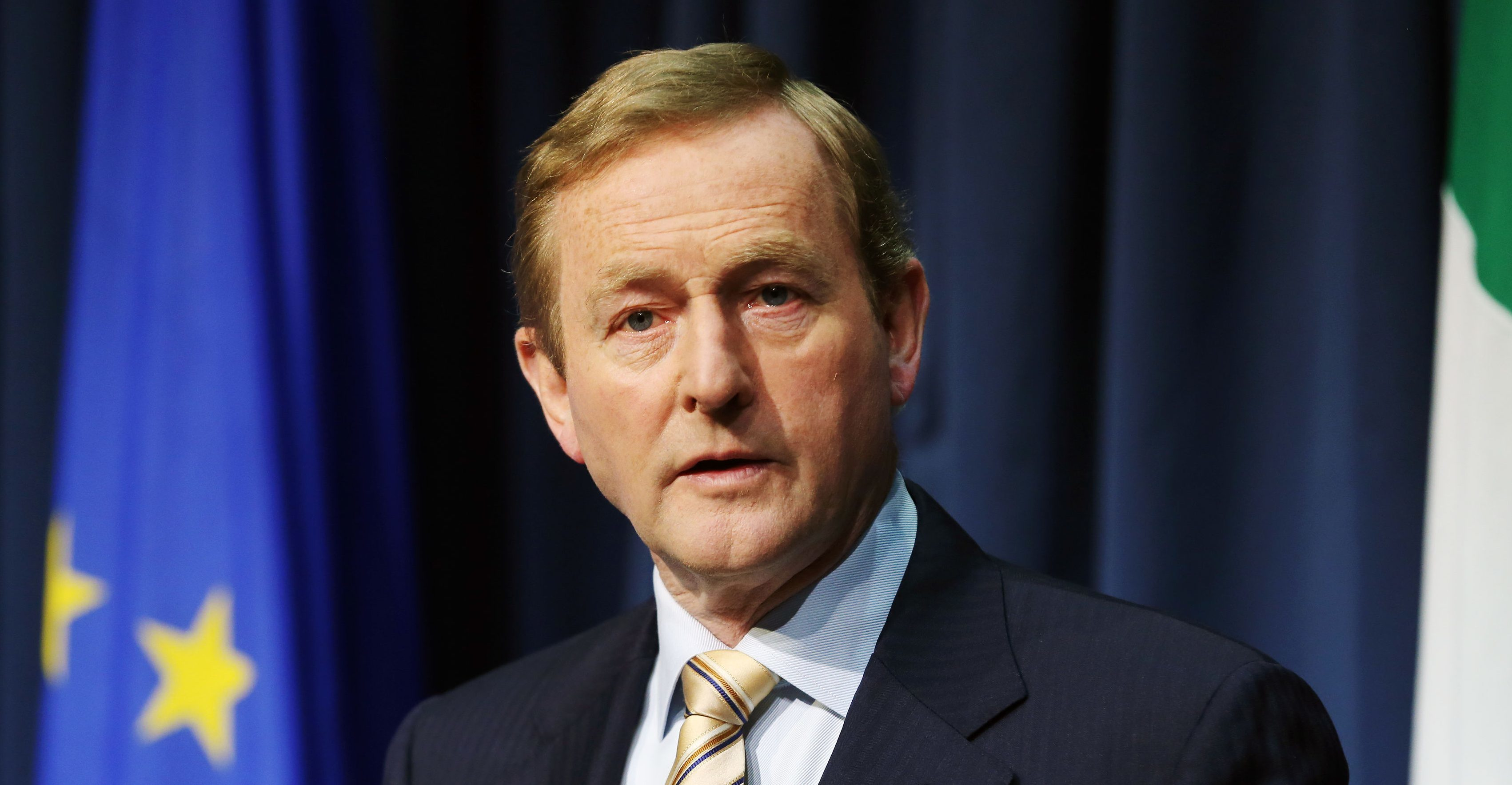 Irish Taoiseach Enda Kenny speaks during a press conference in Dublin, after Britain voted to leave the European Union.