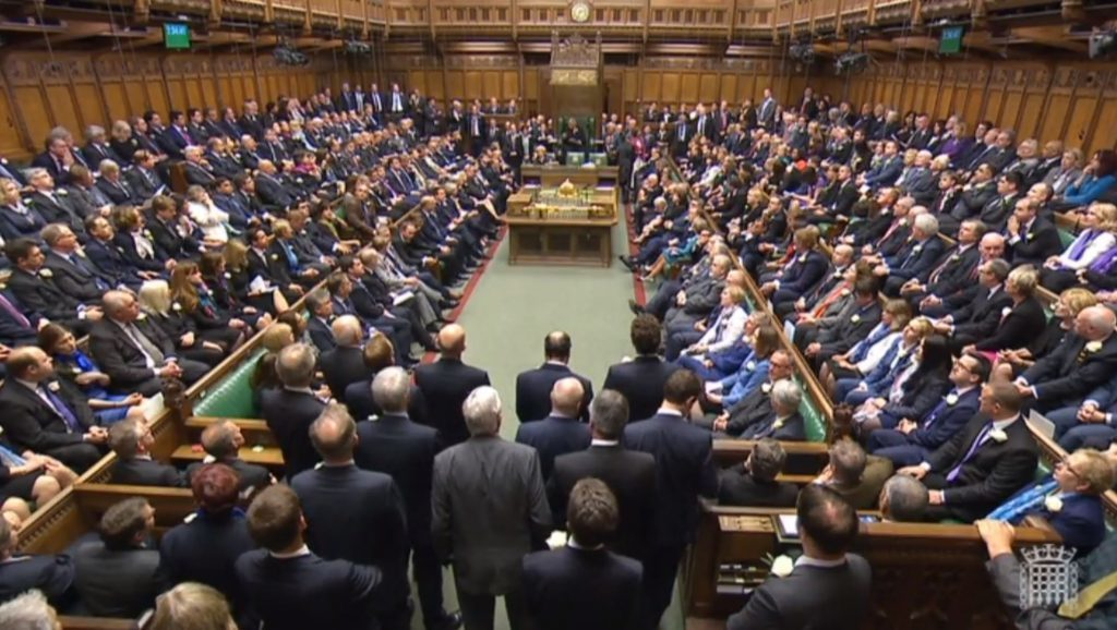 MPs gather in the House of Commons, London, to pay tribute to Labour MP Jo Cox. PRESS ASSOCIATION Photo. Picture date: Monday June 20, 2016. See PA story POLITICS MP. Photo credit should read: PA Wire