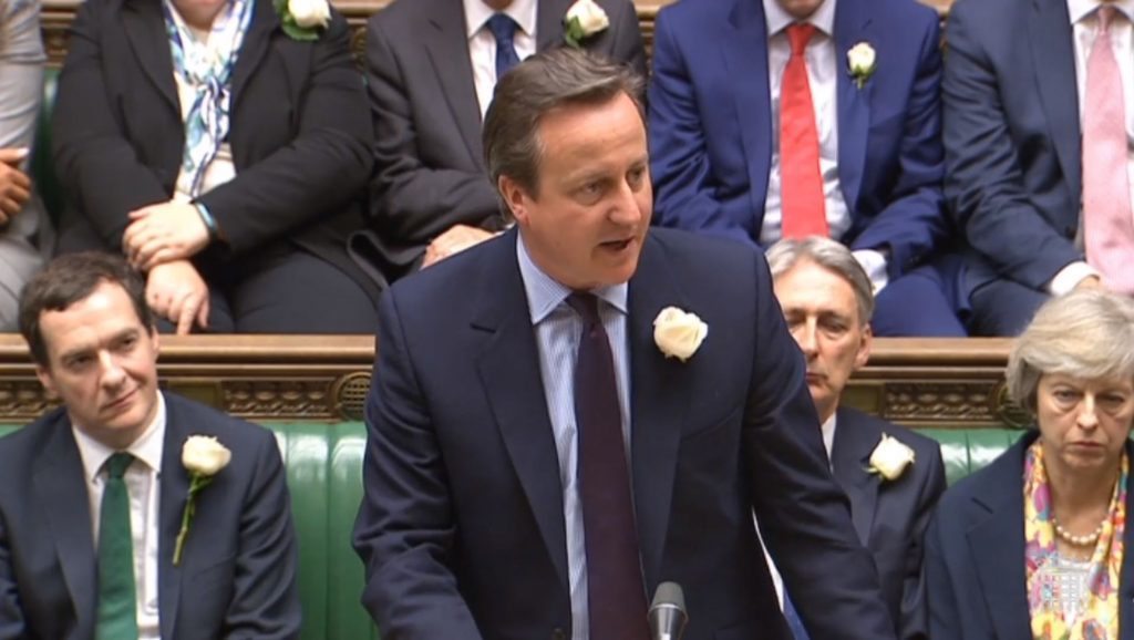 Prime Minister David Cameron speaks in the House of Commons, London, as MPs gather to pay tribute to Labour MP Jo Cox. PRESS ASSOCIATION Photo. Picture date: Monday June 20, 2016. See PA story POLITICS MP. Photo credit should read: PA Wire