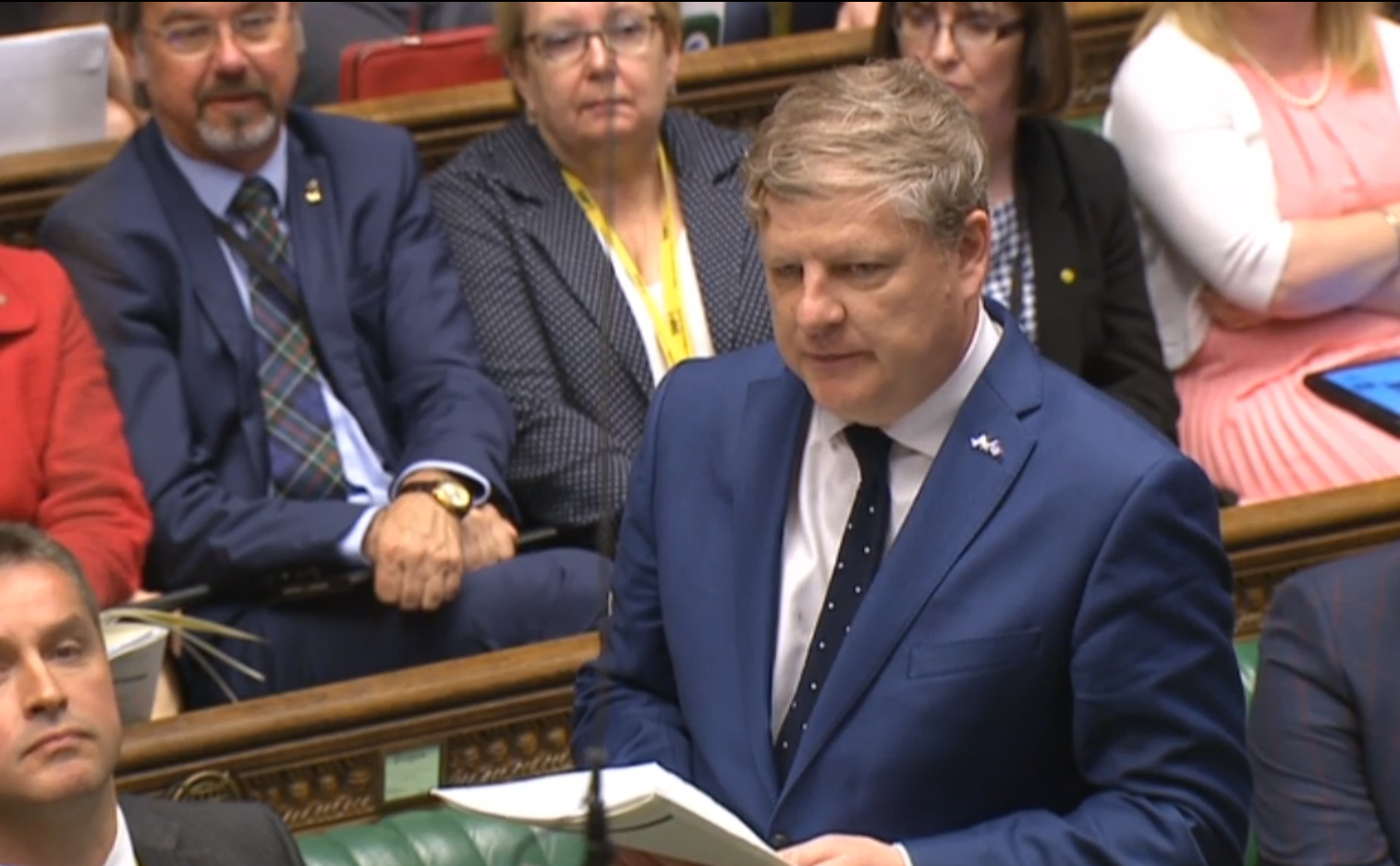 SNP Westminster leader Angus Robertson was in no mood to give David Cameron an easy ride on his last day in charge.