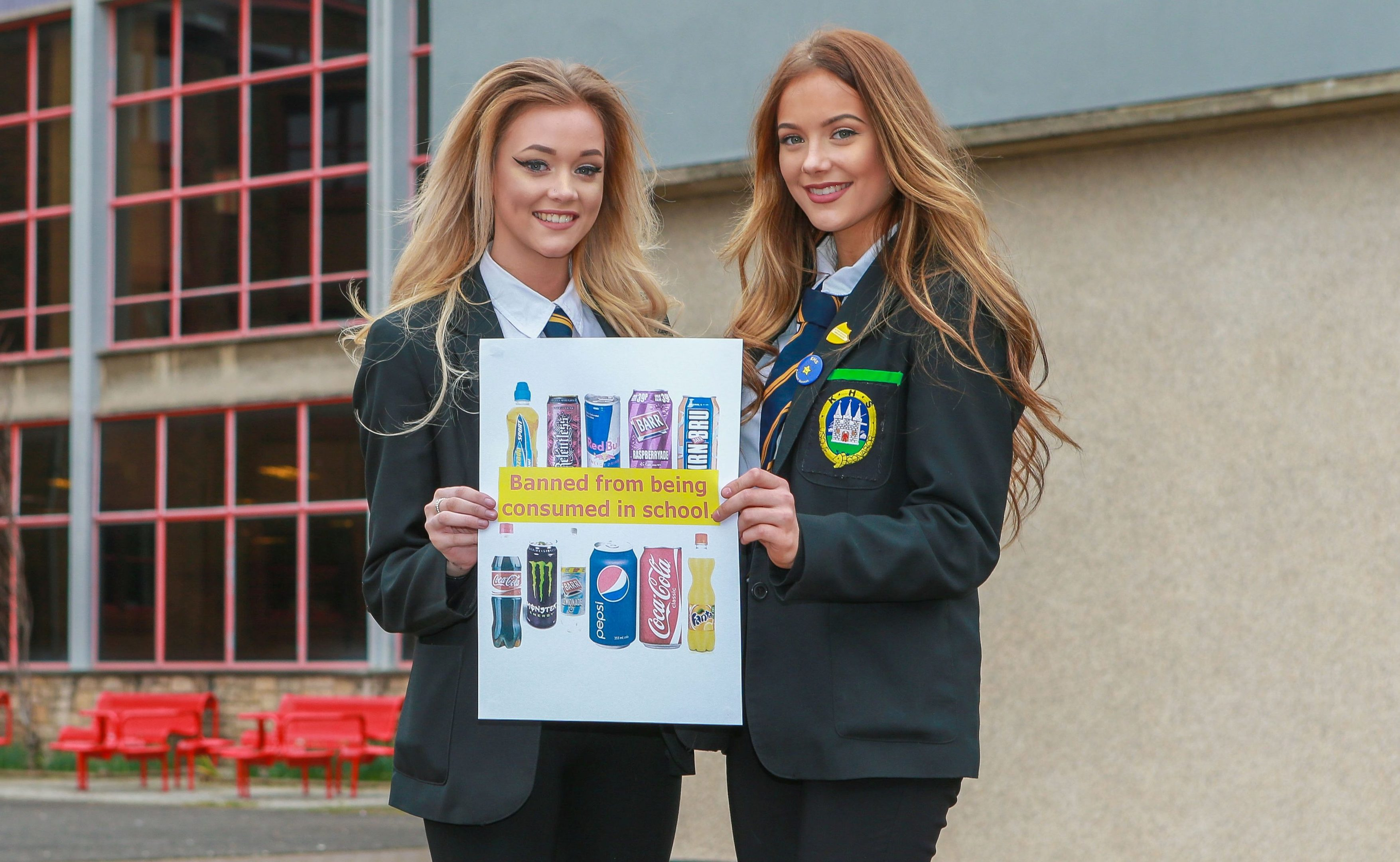 """Paige Morrison and Bethany Cunningham spoke about children's sugar intake at the """"Food Matters"""" National Conference in Edinburgh."""