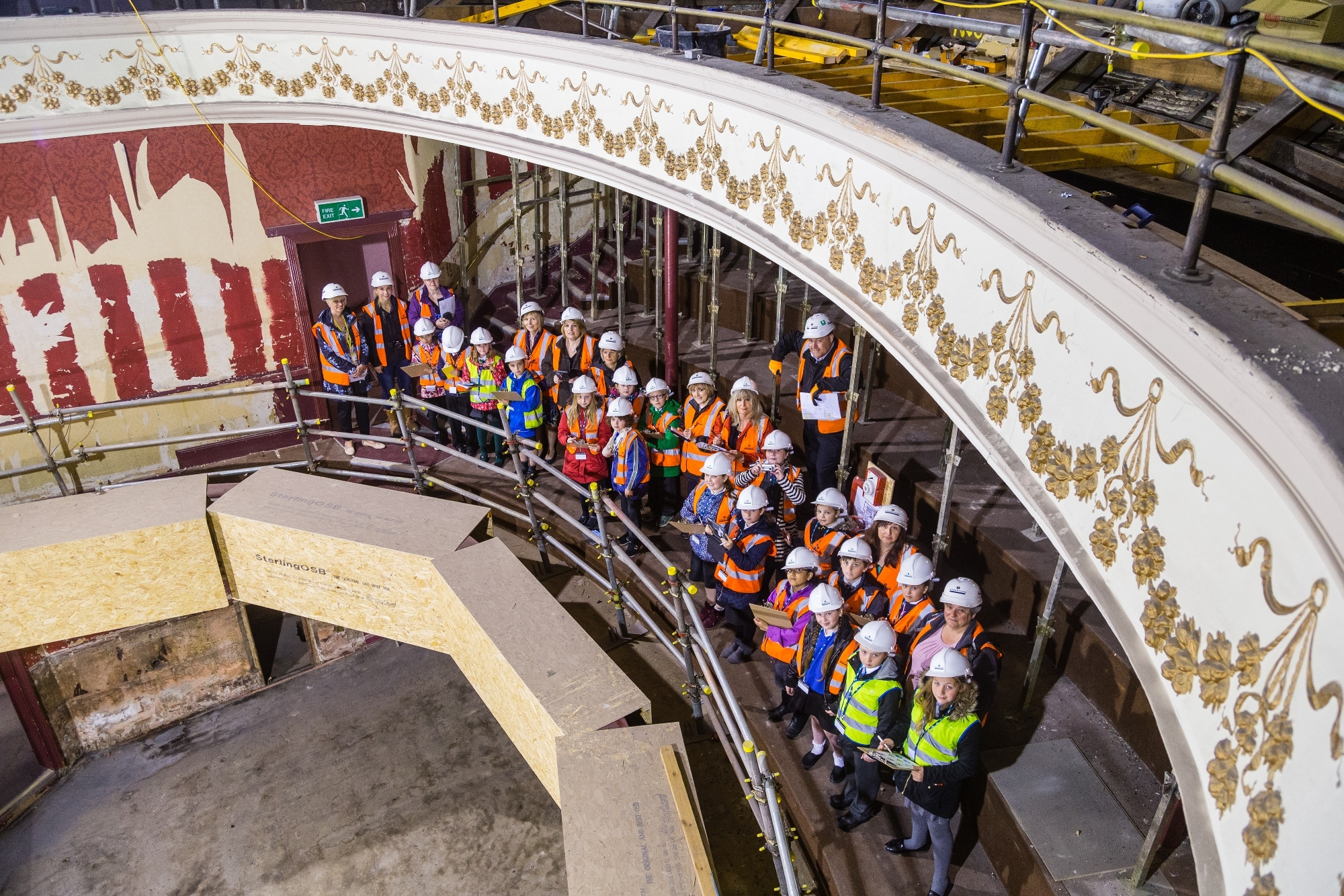 Children get tour of Perth Theatre.