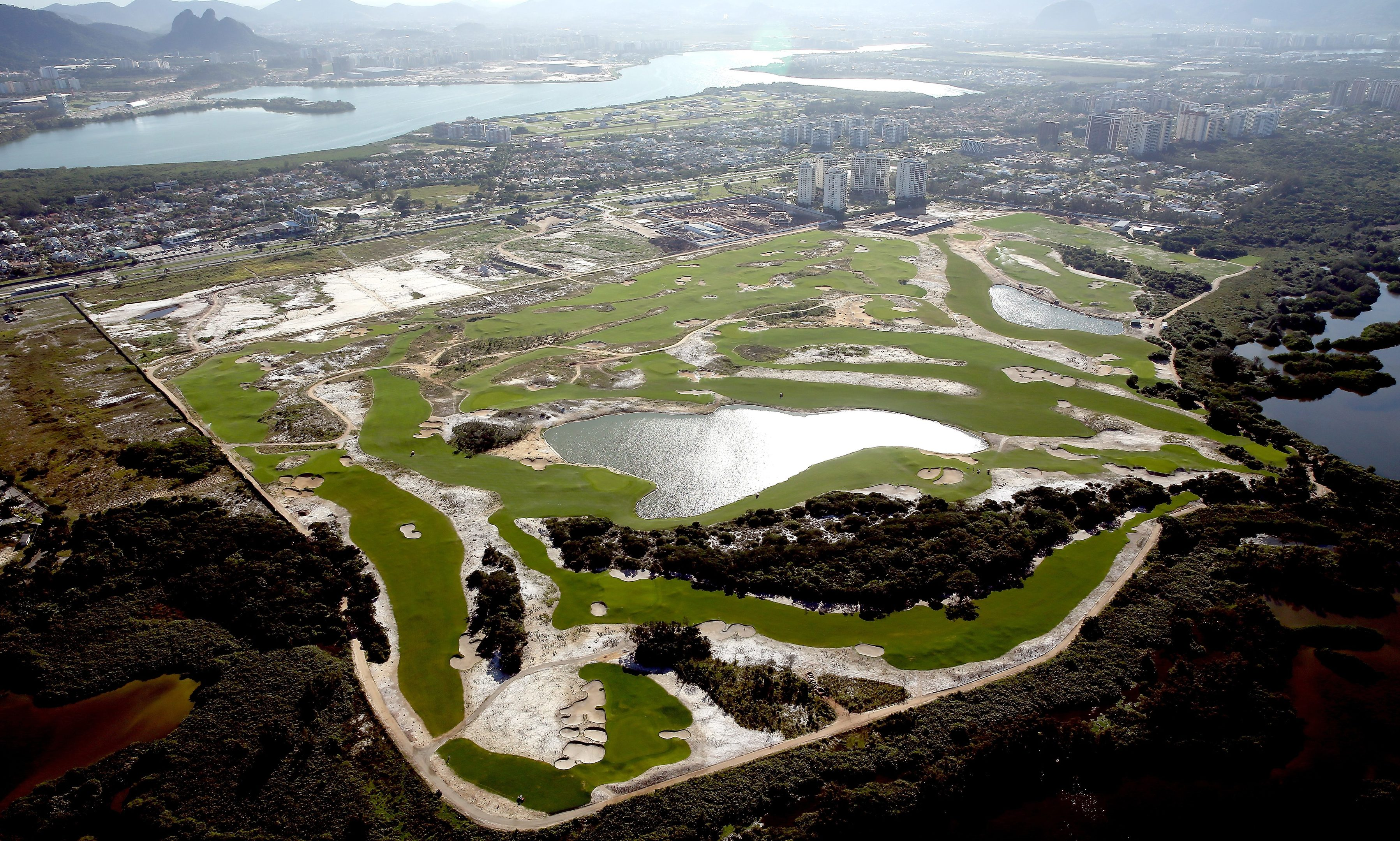 Construction of the Olympic golf course near Rio has been criticised.