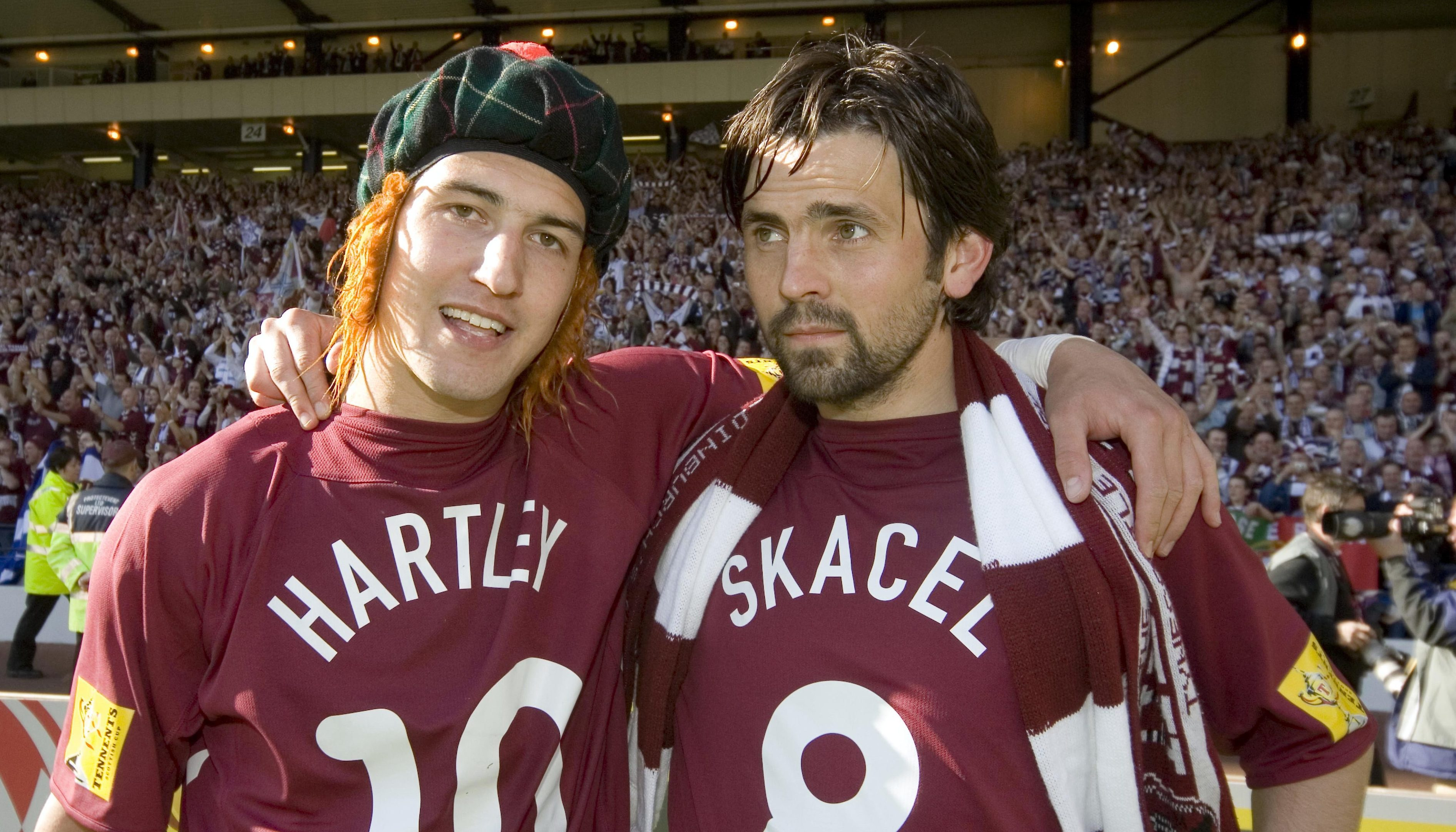 Paul Hartley, right, tasted Scottish Cup success with Hearts. Now he wants to do the same as a manager.