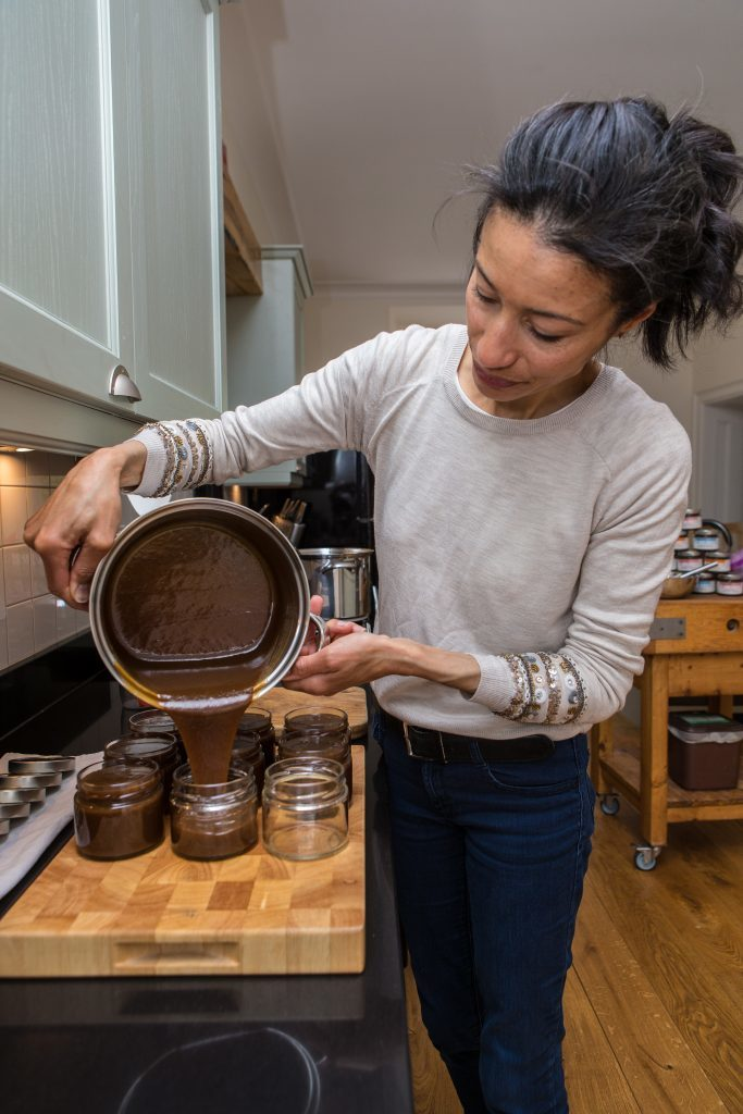 Michelle Wilkinson at work in the kitchen