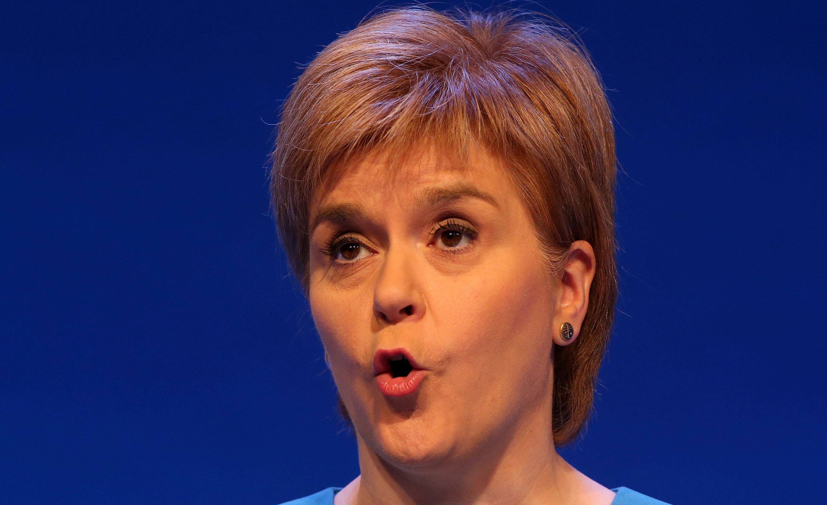 First Minister Nicola Sturgeon speaks at the Royal College of Nursing congress in Glasgow.