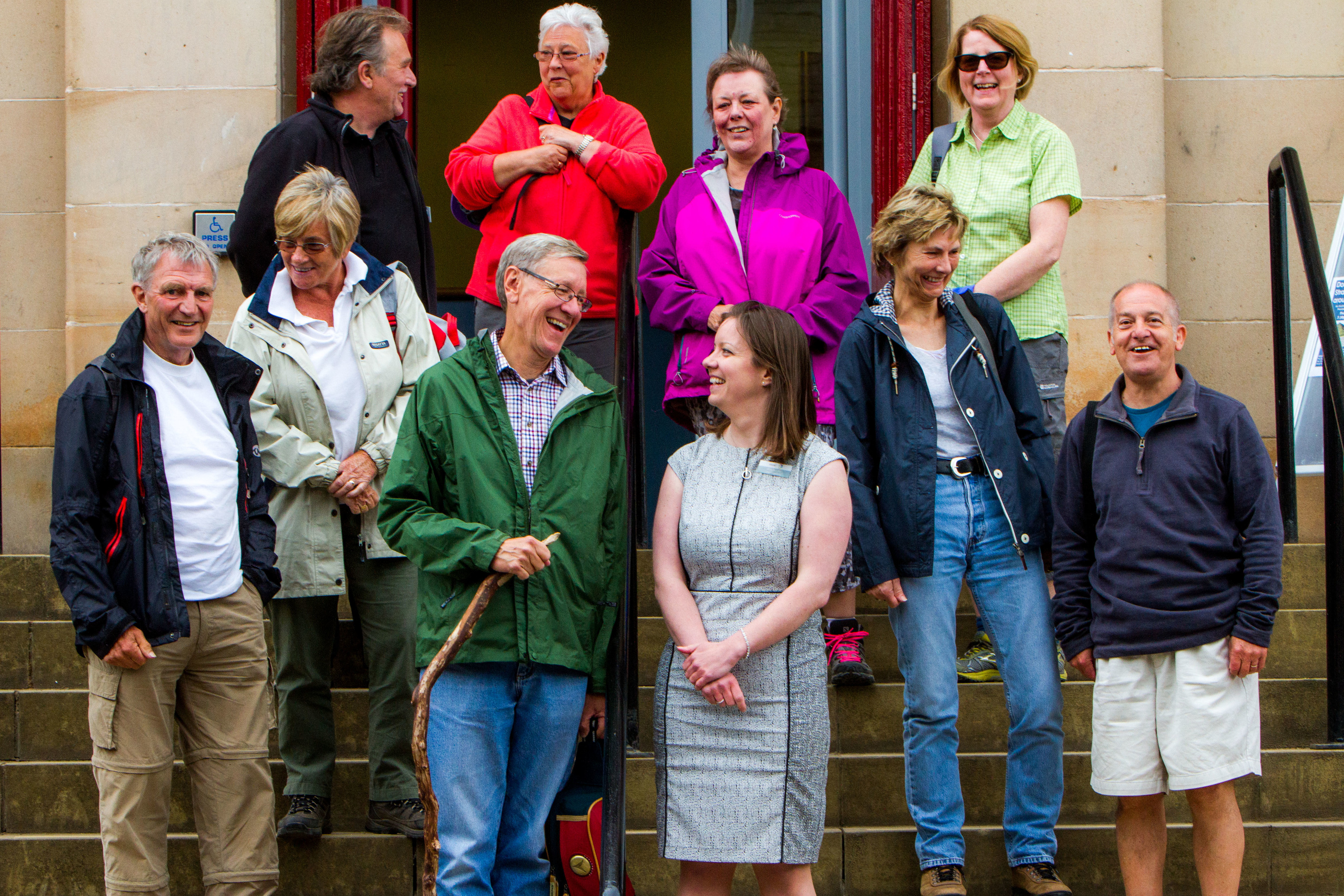 Walkers return to Kirrie town hall after the Angus Glens Walking Festival