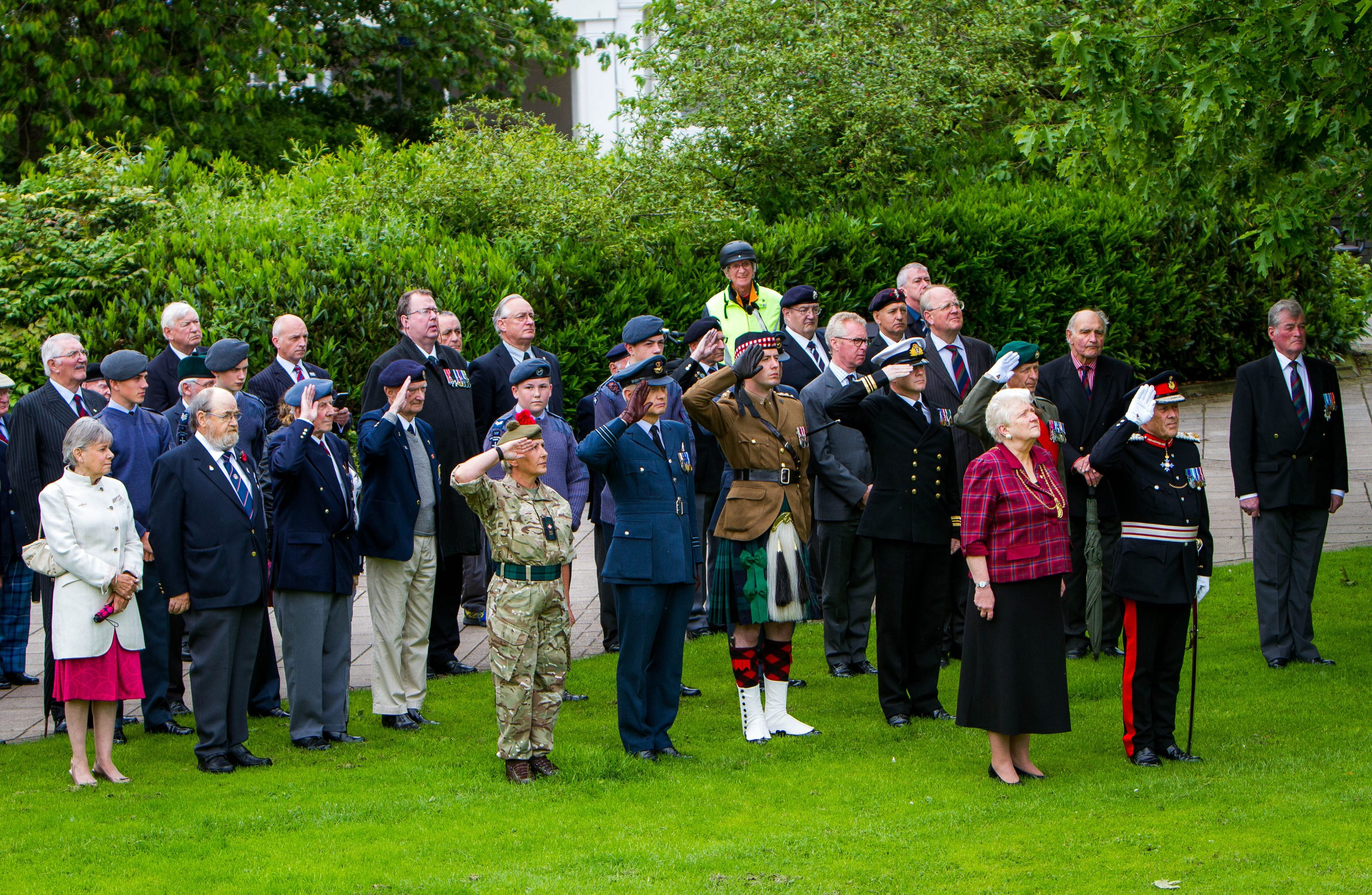 Members of the forces and veterans were joined by Perth and Kinross Council officials at the ceremony.