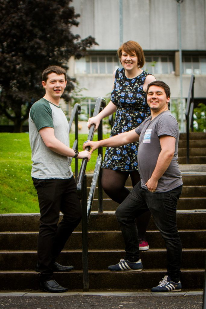 Picture shows (left to right) Charlie Kleboe-Rogers, Gemma McIntosh and James McDonagh. University of Dundee.