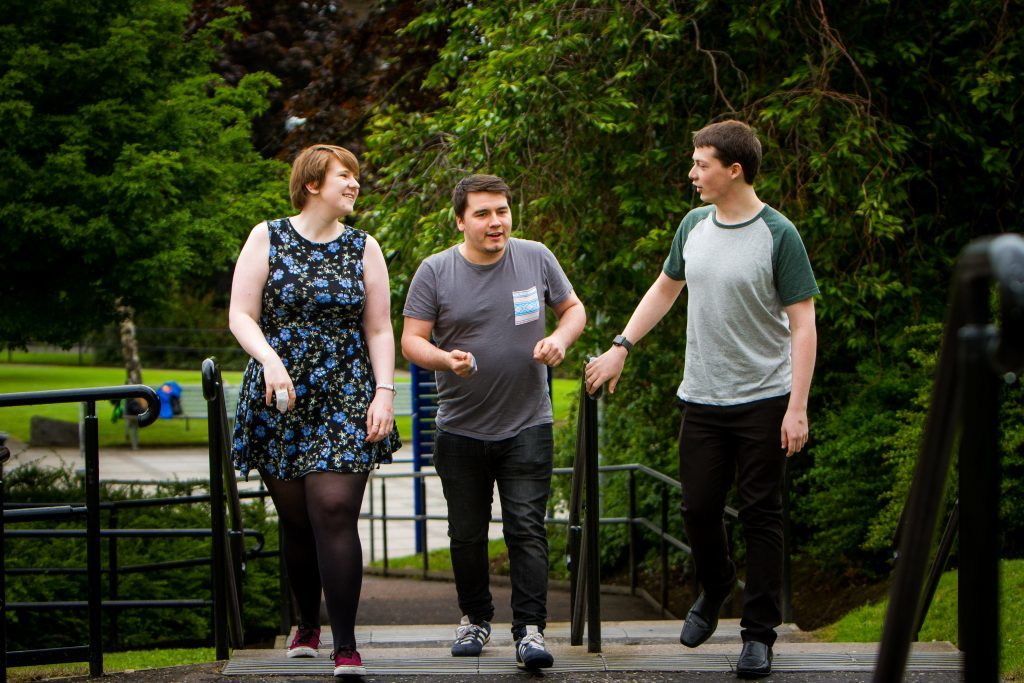 Picture shows (left to right) Gemma McIntosh, James McDonagh and Charlie Kleboe-Rogers. University of Dundee.