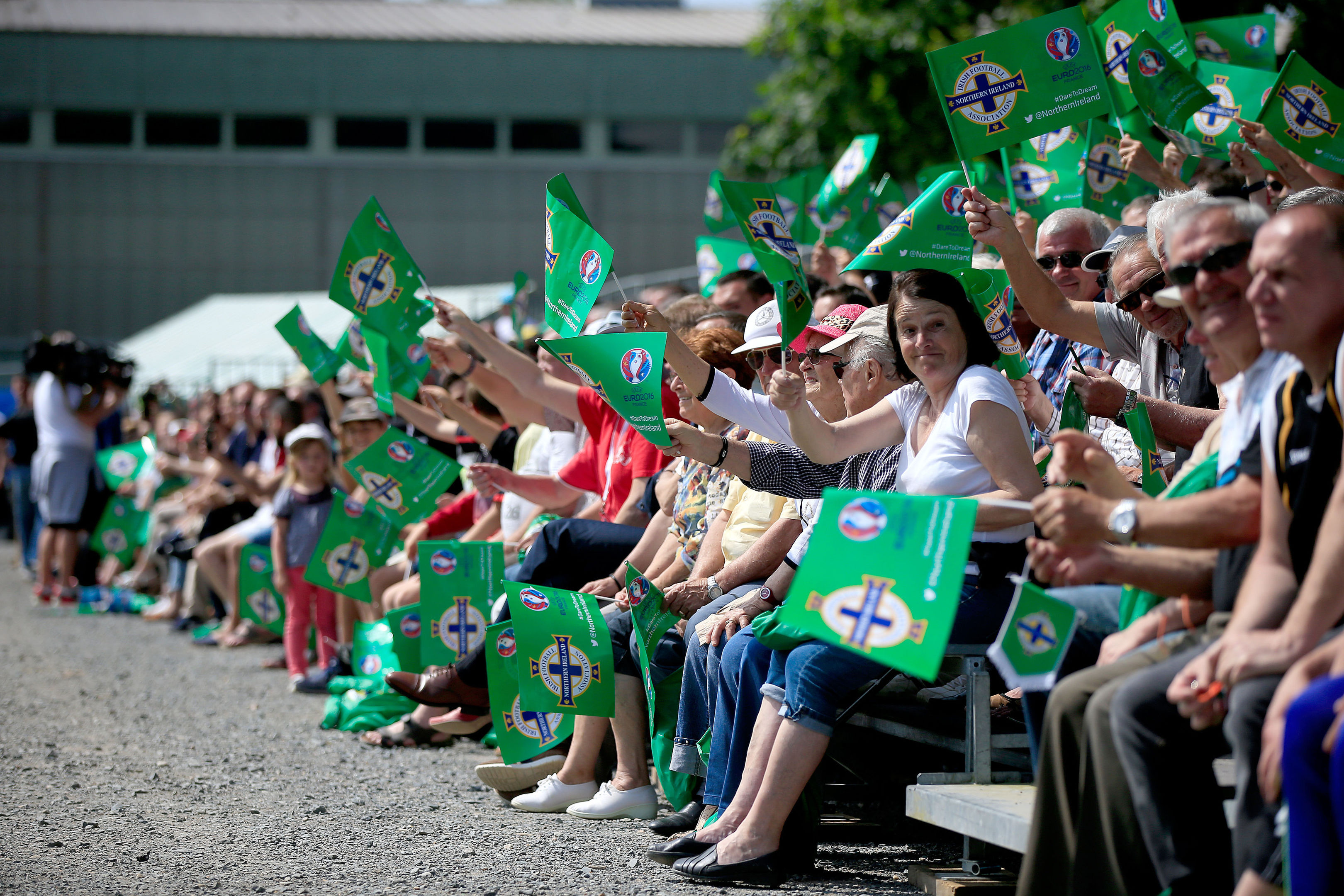 Northern Ireland fans, and their French hosts, are the most confident of the Home Nations.