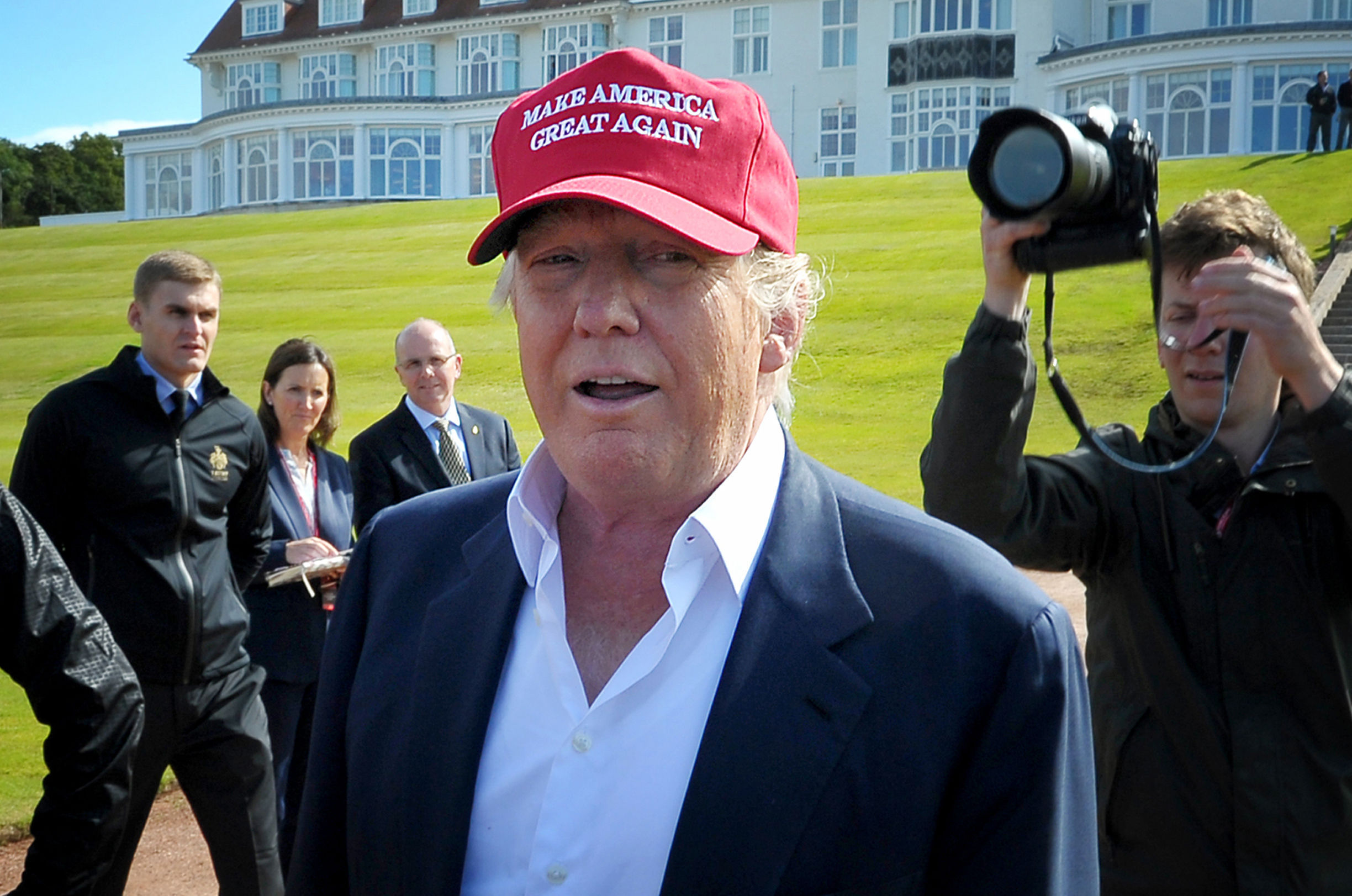 Donald Trump at Turnberry last year.
