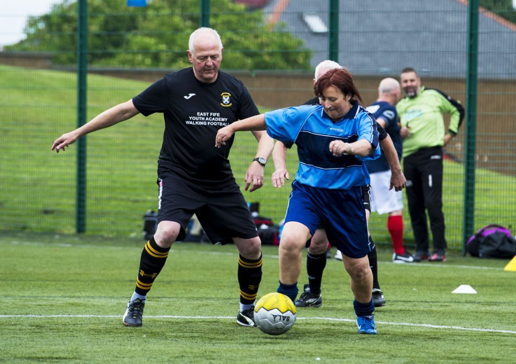 19/06/16 - 16061903 - PATHS FOR ALL AINSLIE PARK STADIUM - EDINBURGH The National Walking Football Network festival takes place in the Spartan's Football Club stadium and features over 300 walking football players from around Scotland