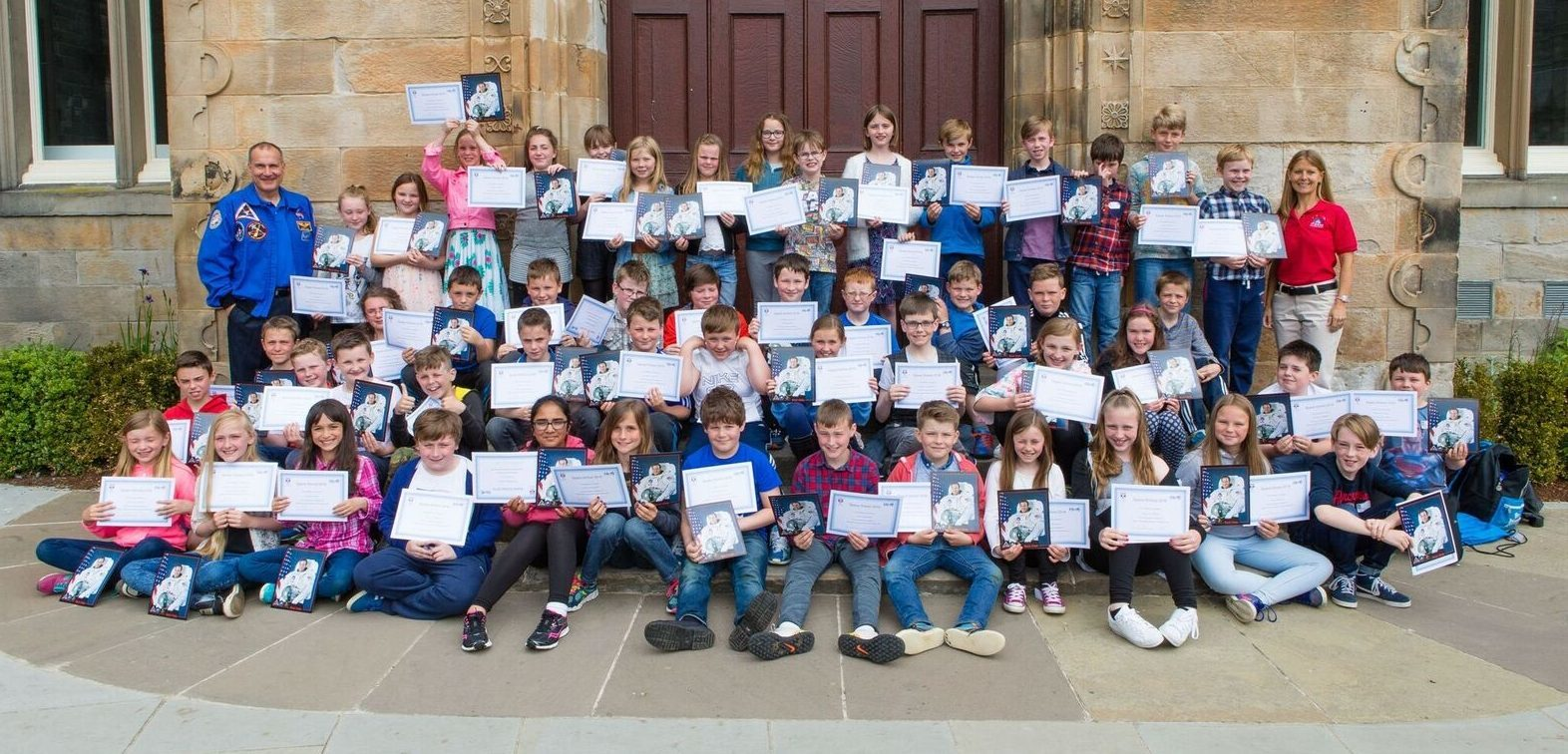Primary school pupils from across Fife who graduated from Space School this week.