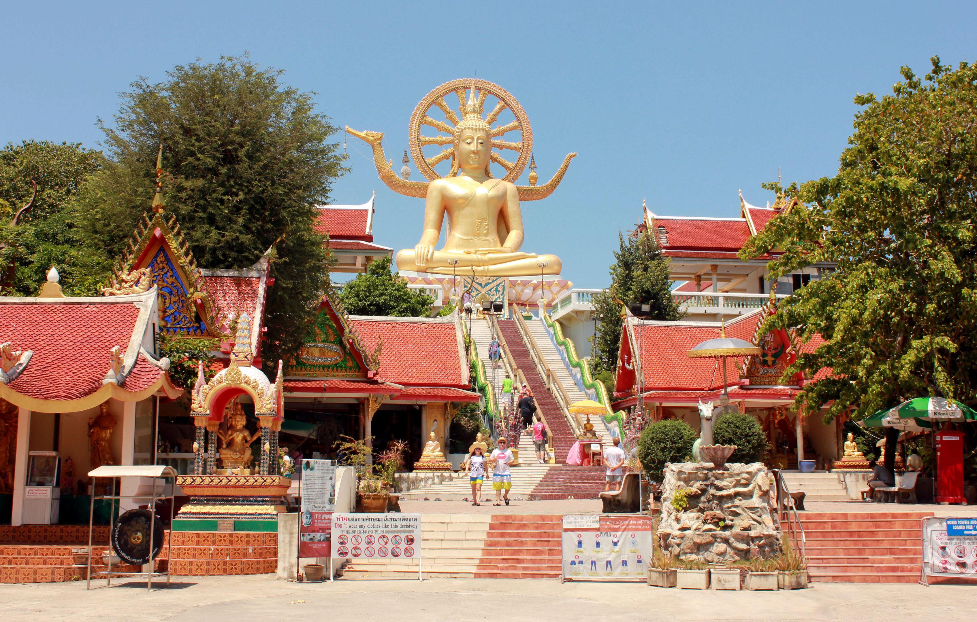 Golden Buddha statue in Koh Samui.