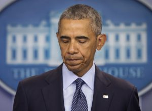 President Barack Obama pauses as he speaks about the massacre at a Orlando nightclub during a news conference at the White House in Washington on Sunday.