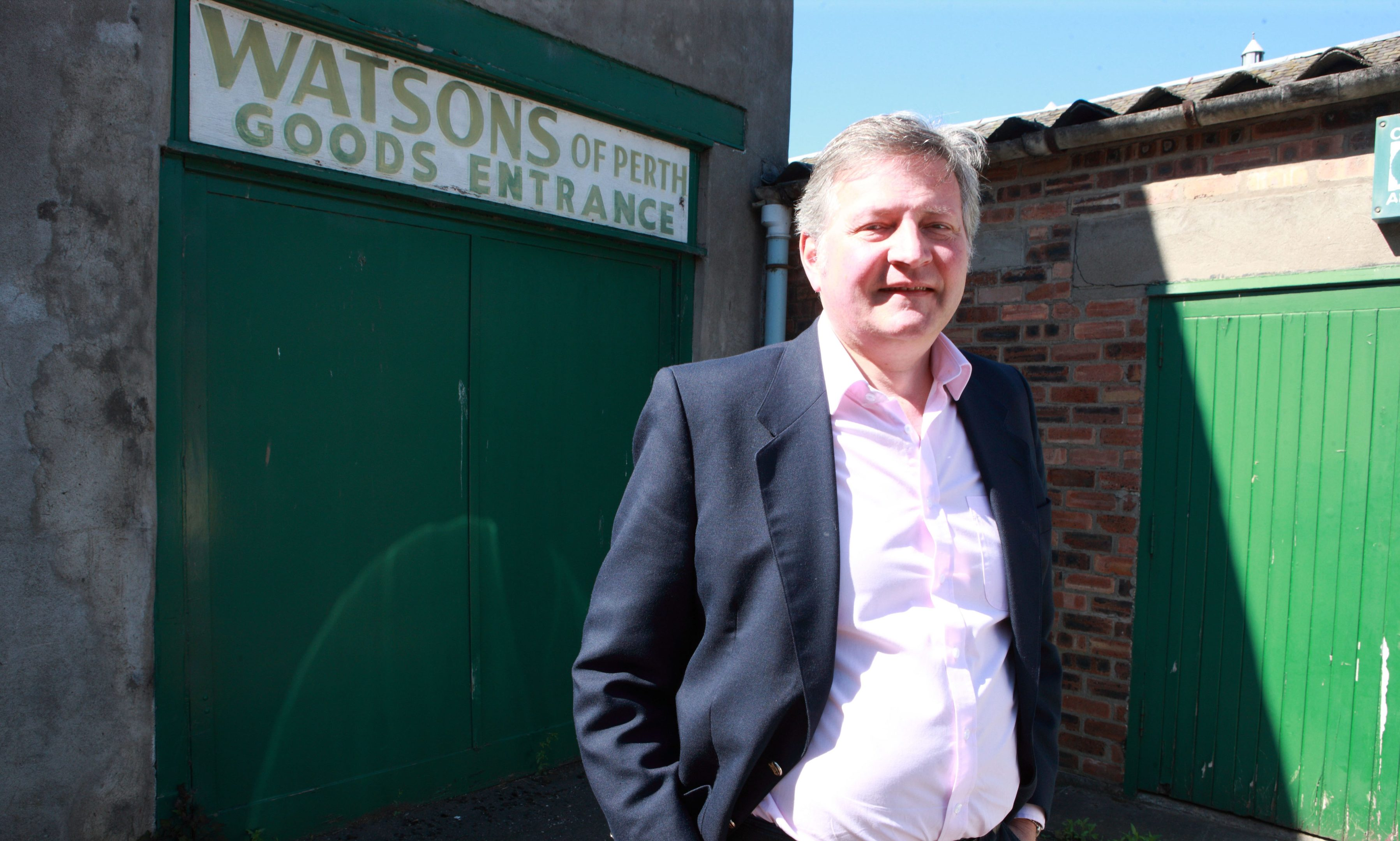 Watsons of Perth manager Kerr Watson at one of the redundant warehouses.