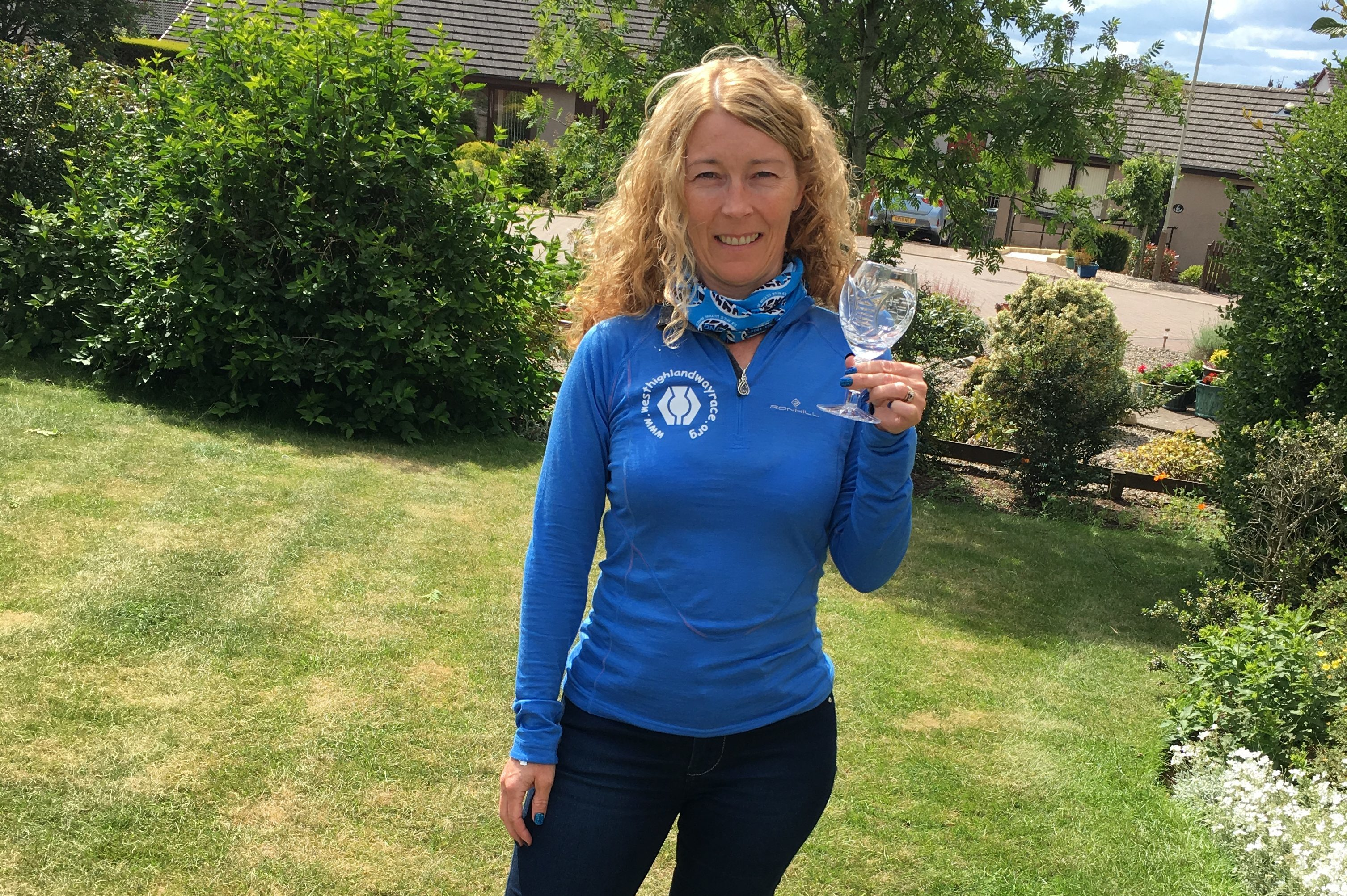 Angie was one of the 200 who ran from Milngavie to Fort William.
