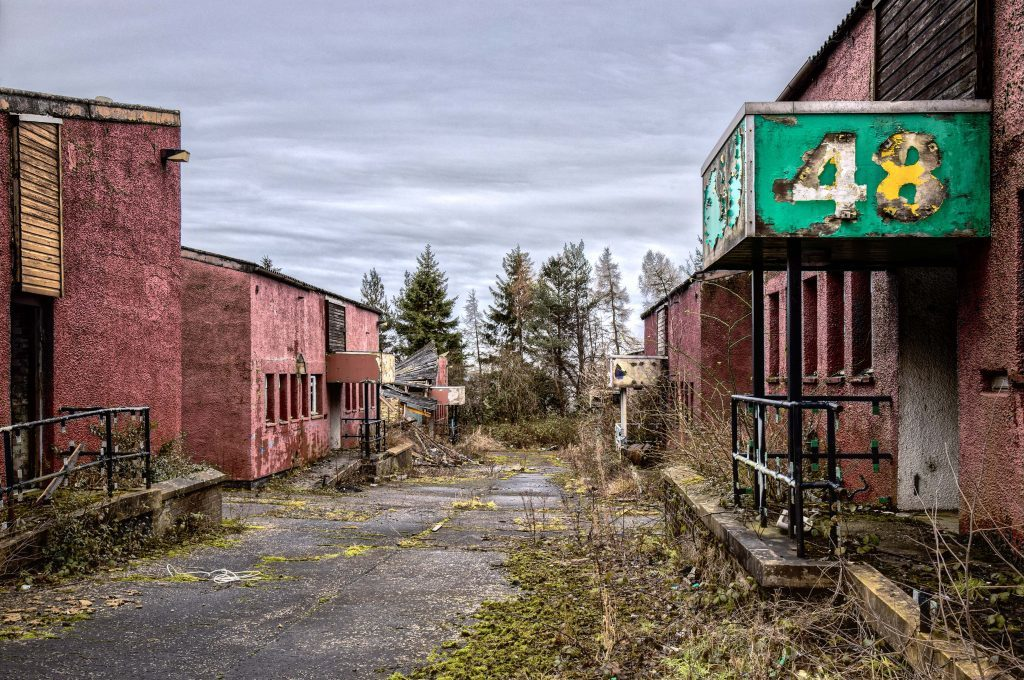 A derelict unit at Whitehill Industrial Estate near Glenrothes.