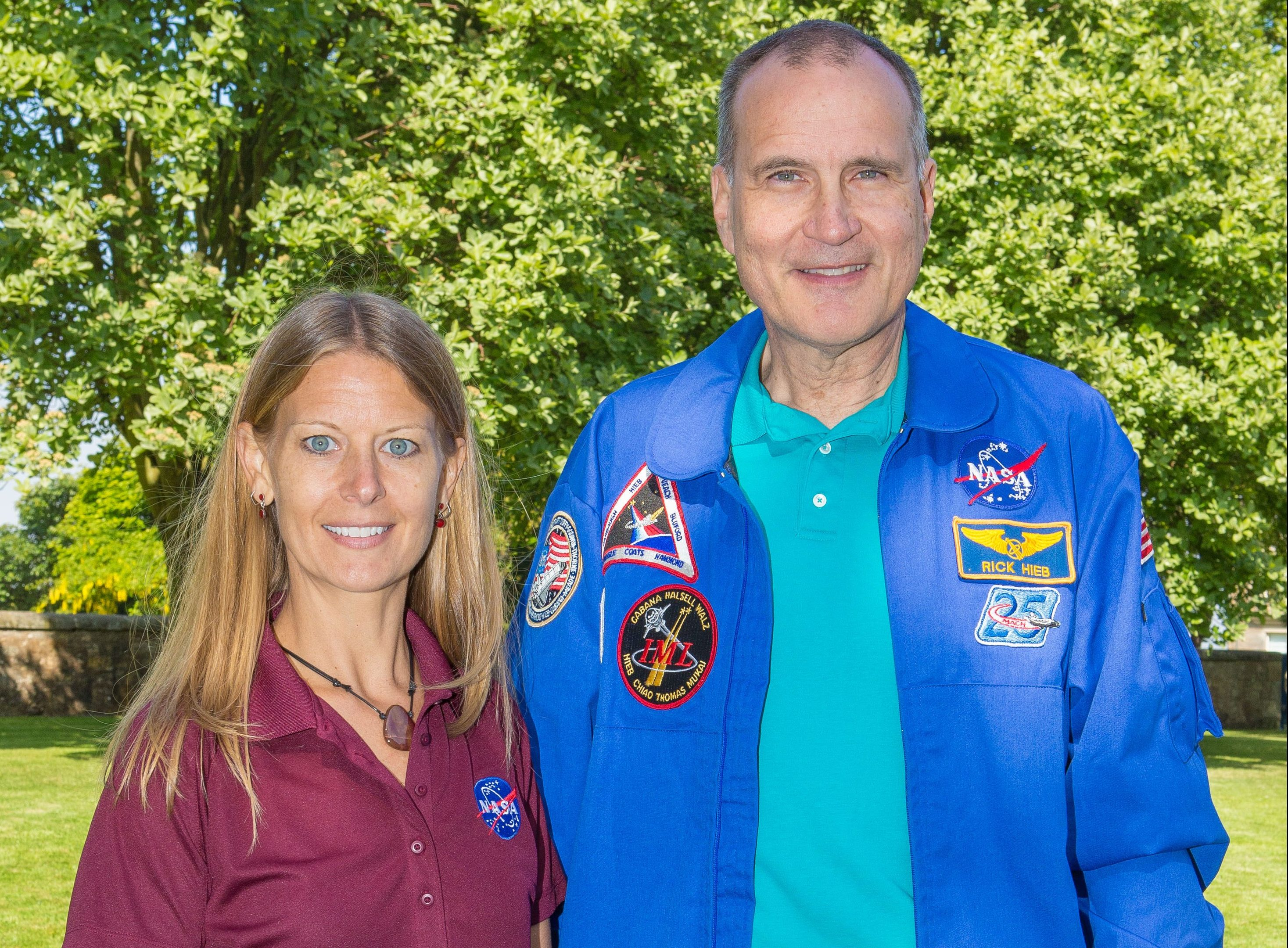 Former NASA astronaut Rick Hieb and NASA space scientist Dr Sue Lederer