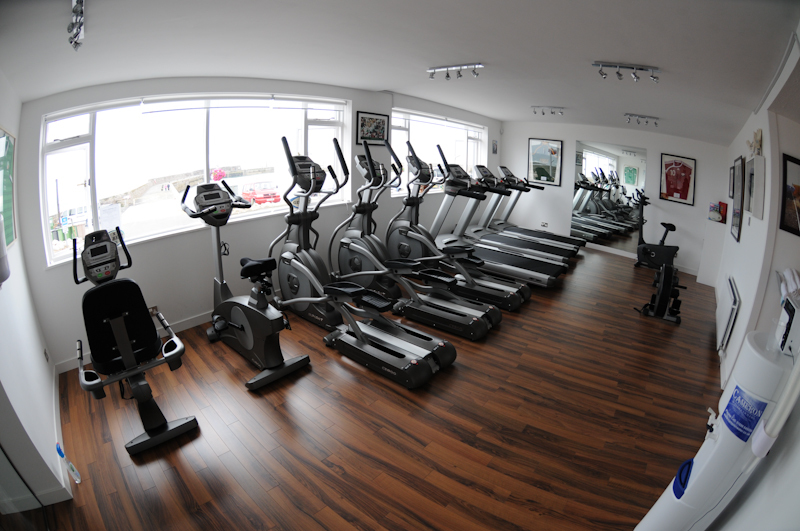 Stuart Bartons gym overlooks the shore at Anstruther