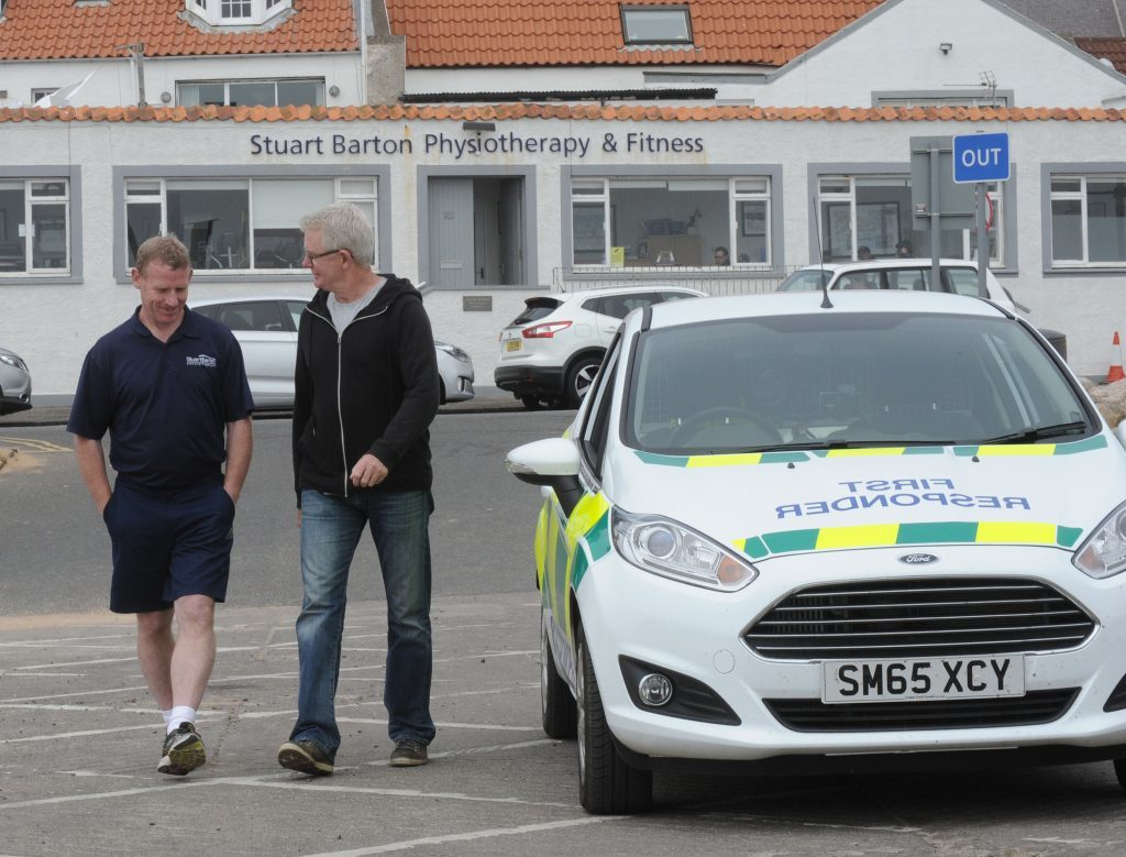 Stuart Barton left) with Brian Clarke