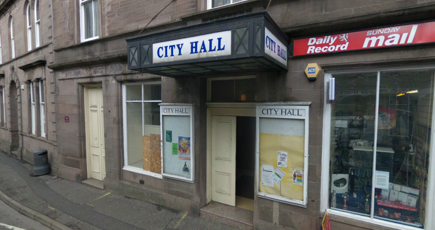 Brechin City Hall, where cinema screenings took place.