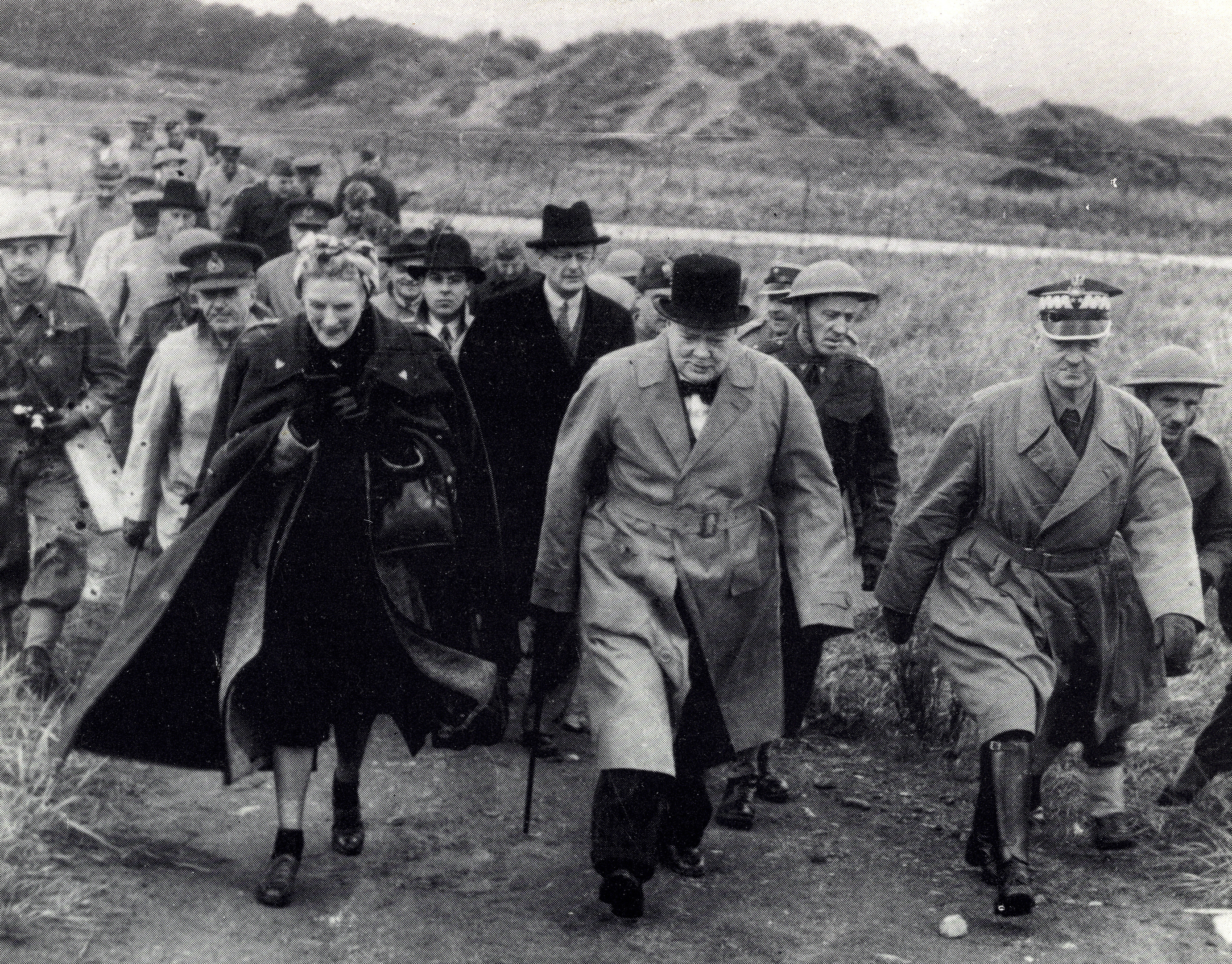 British Prime Minister Winston Churchill at St Andrews West Sands in 1940.