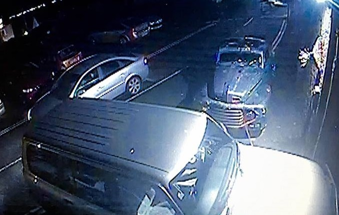 The silver Vauxhall Vectra with distinctive alloy wheels that the masked man arrived at the scene in.